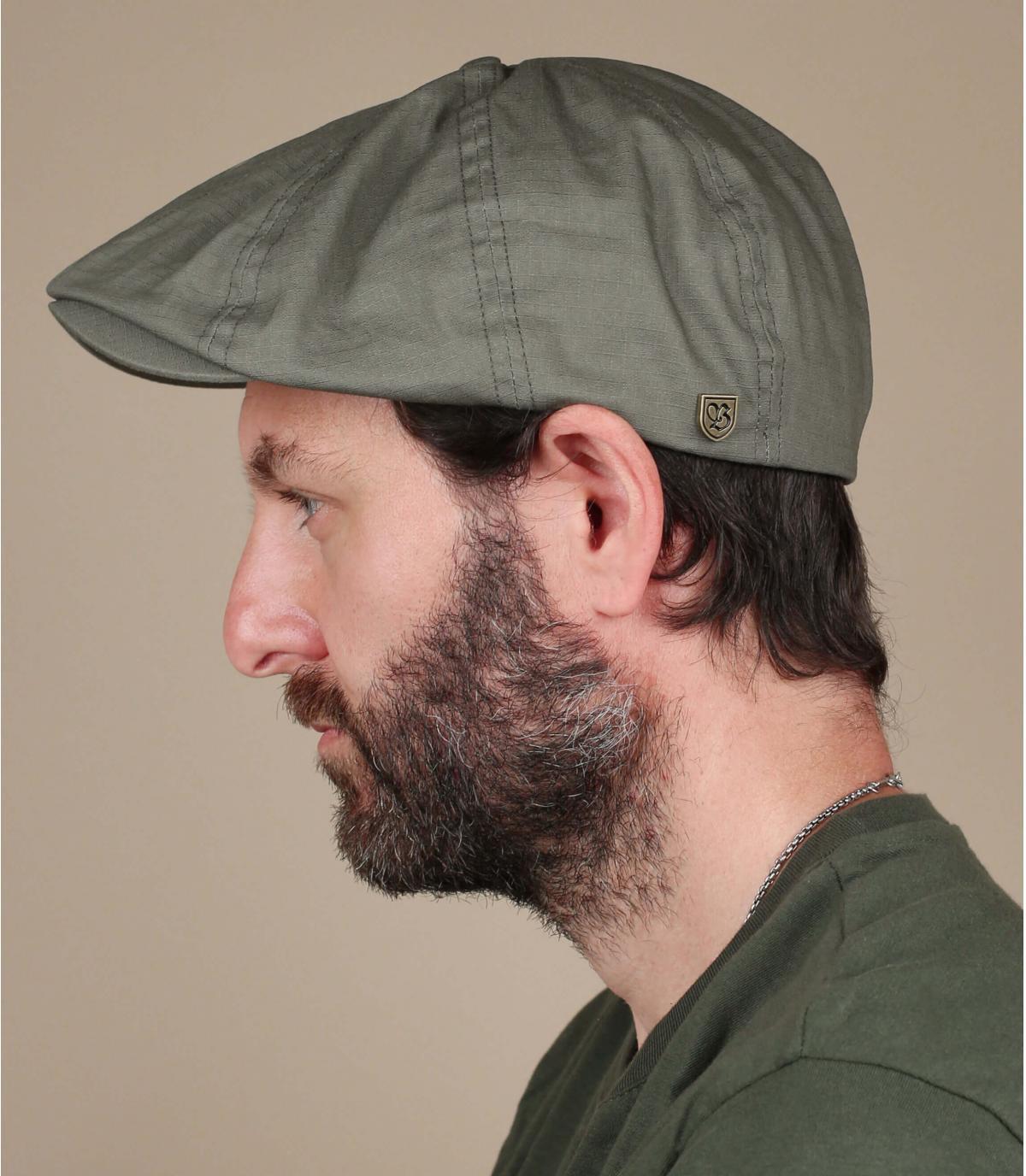 Brixton green newsboy cap