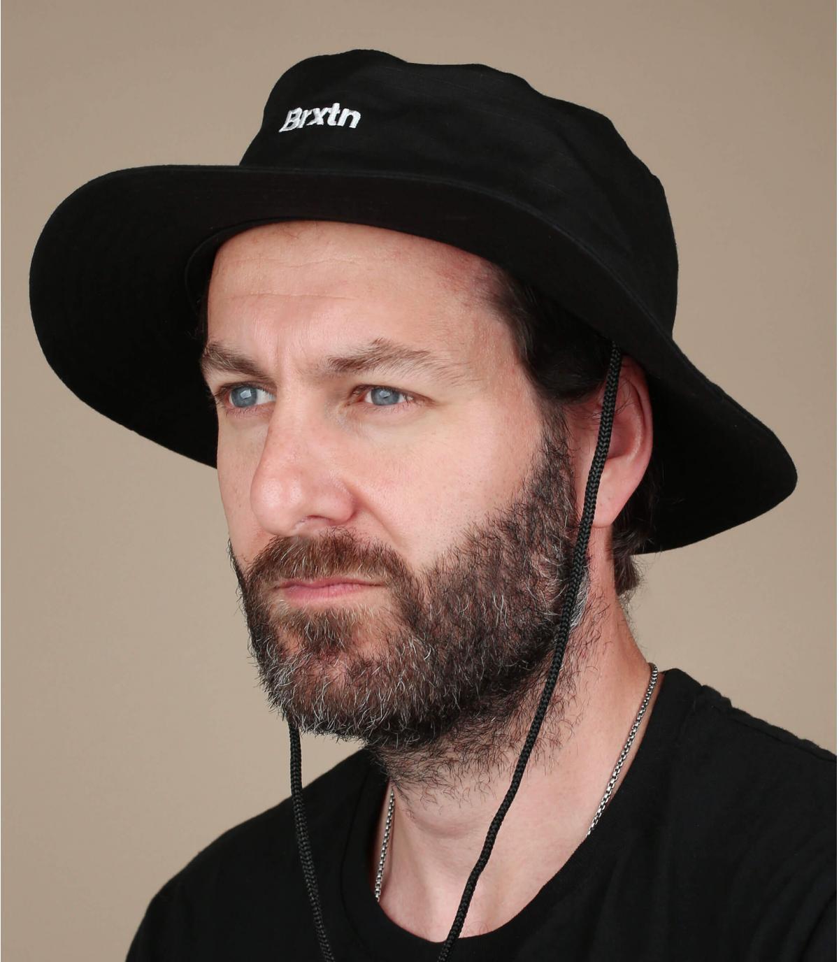 black Brixton bucket hat