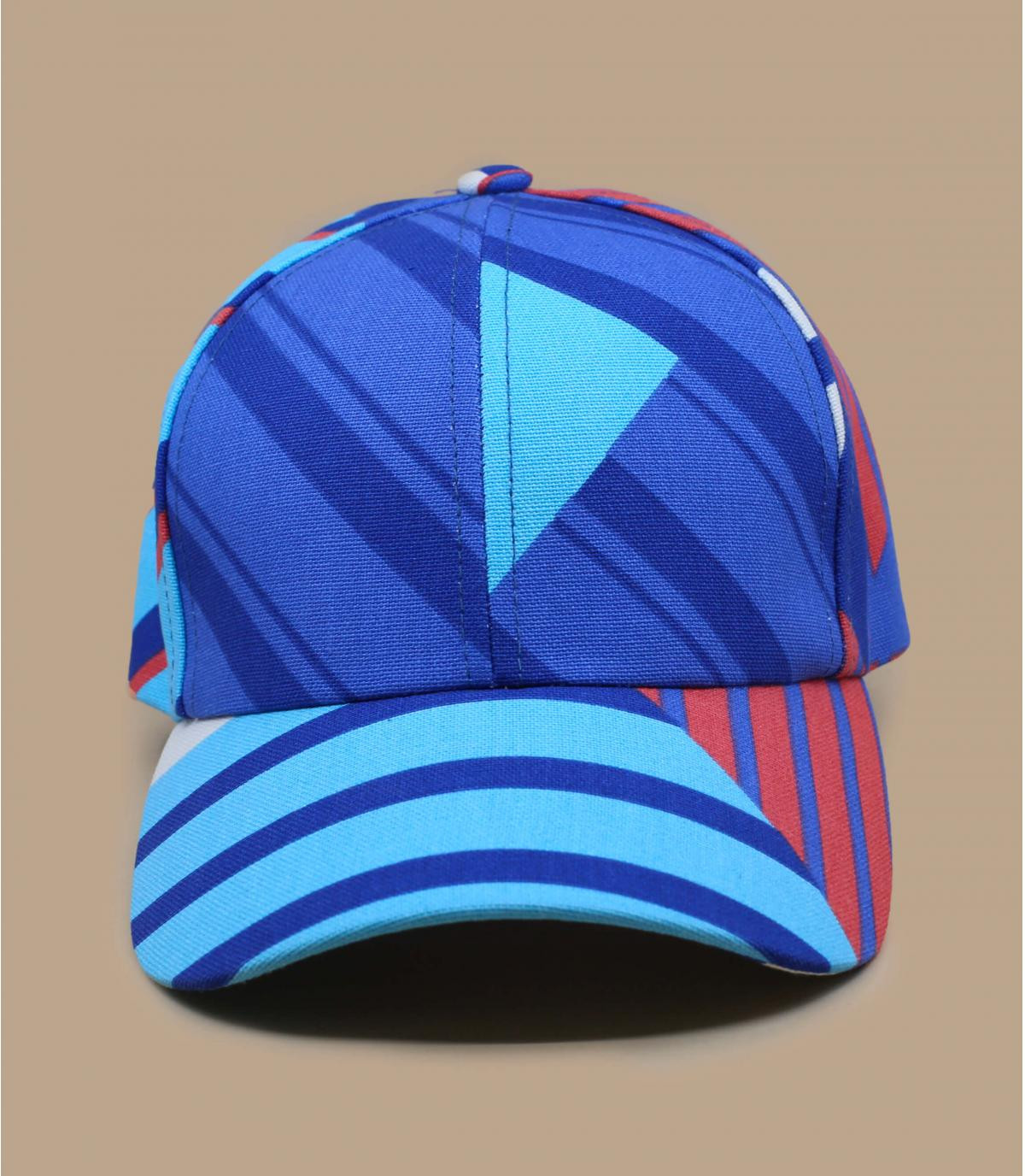blue striped cap