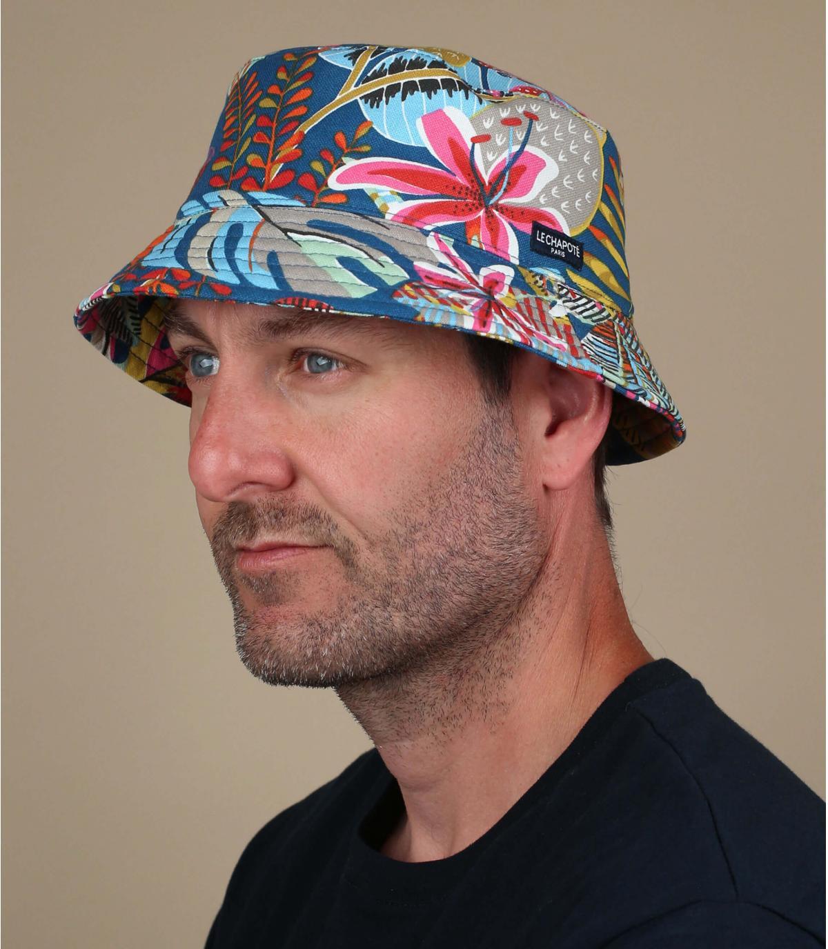 bucket hat tropical print