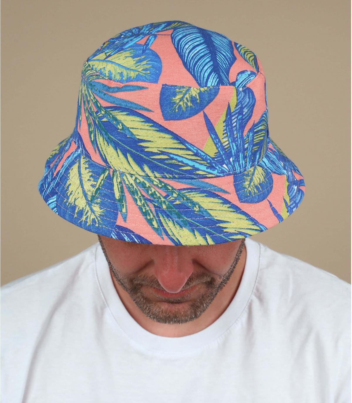 Pink bucket hat floral print