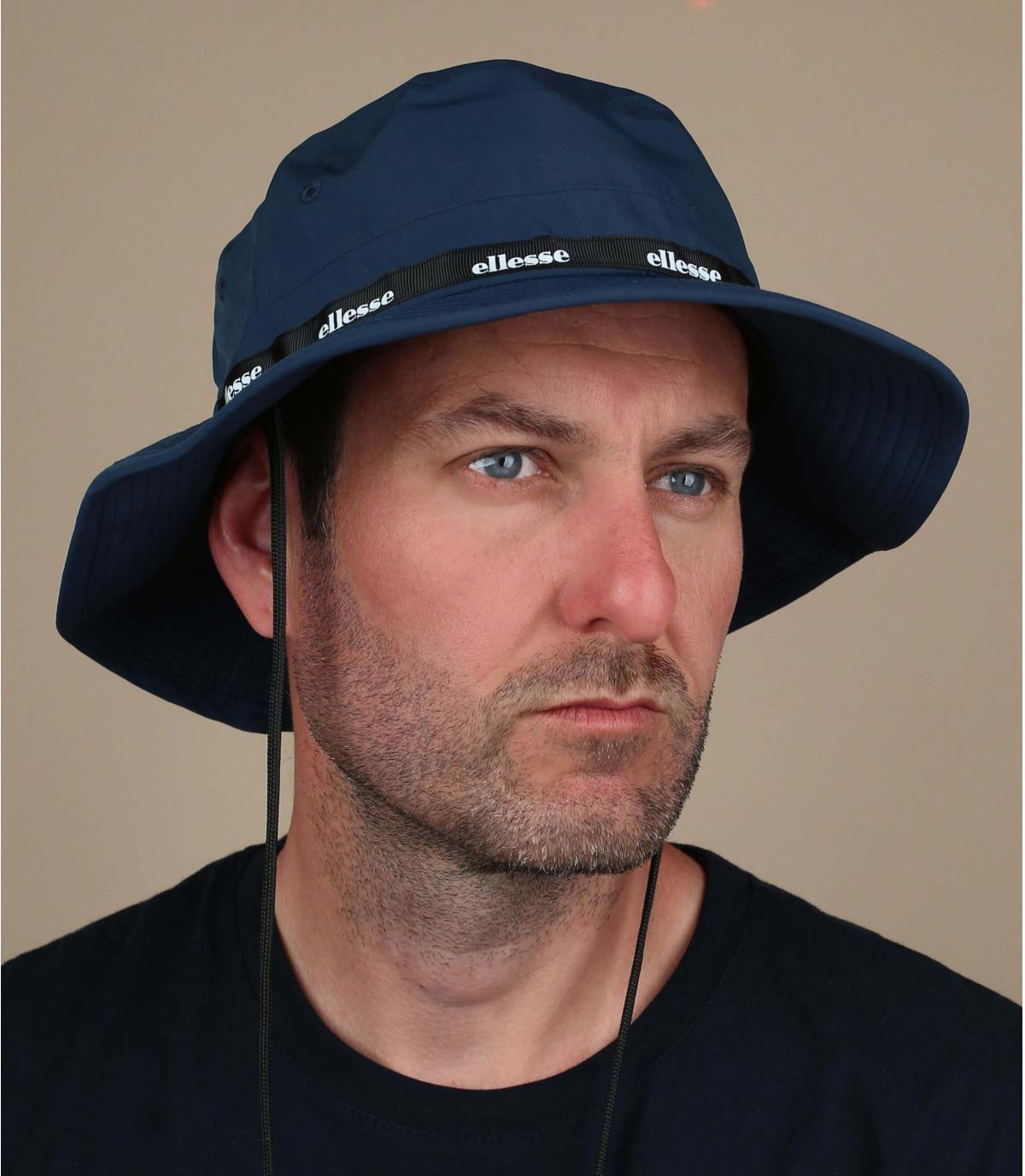 navy blue Ellesse bucket hat