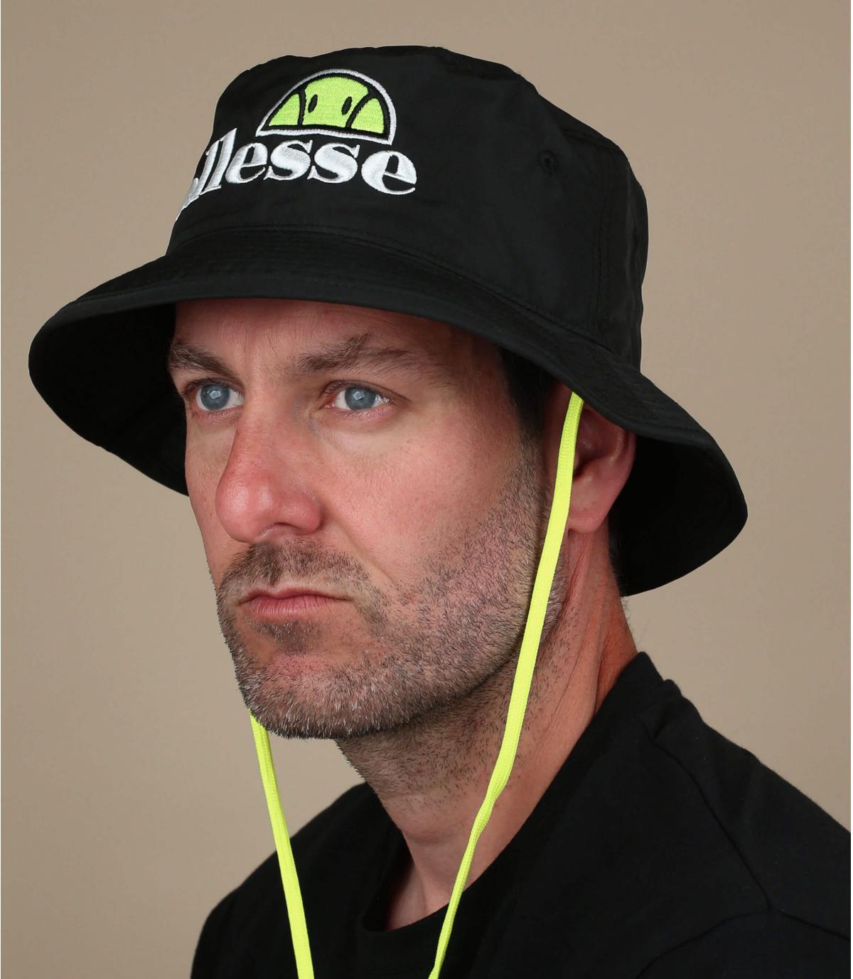 black Ellesse bucket hat
