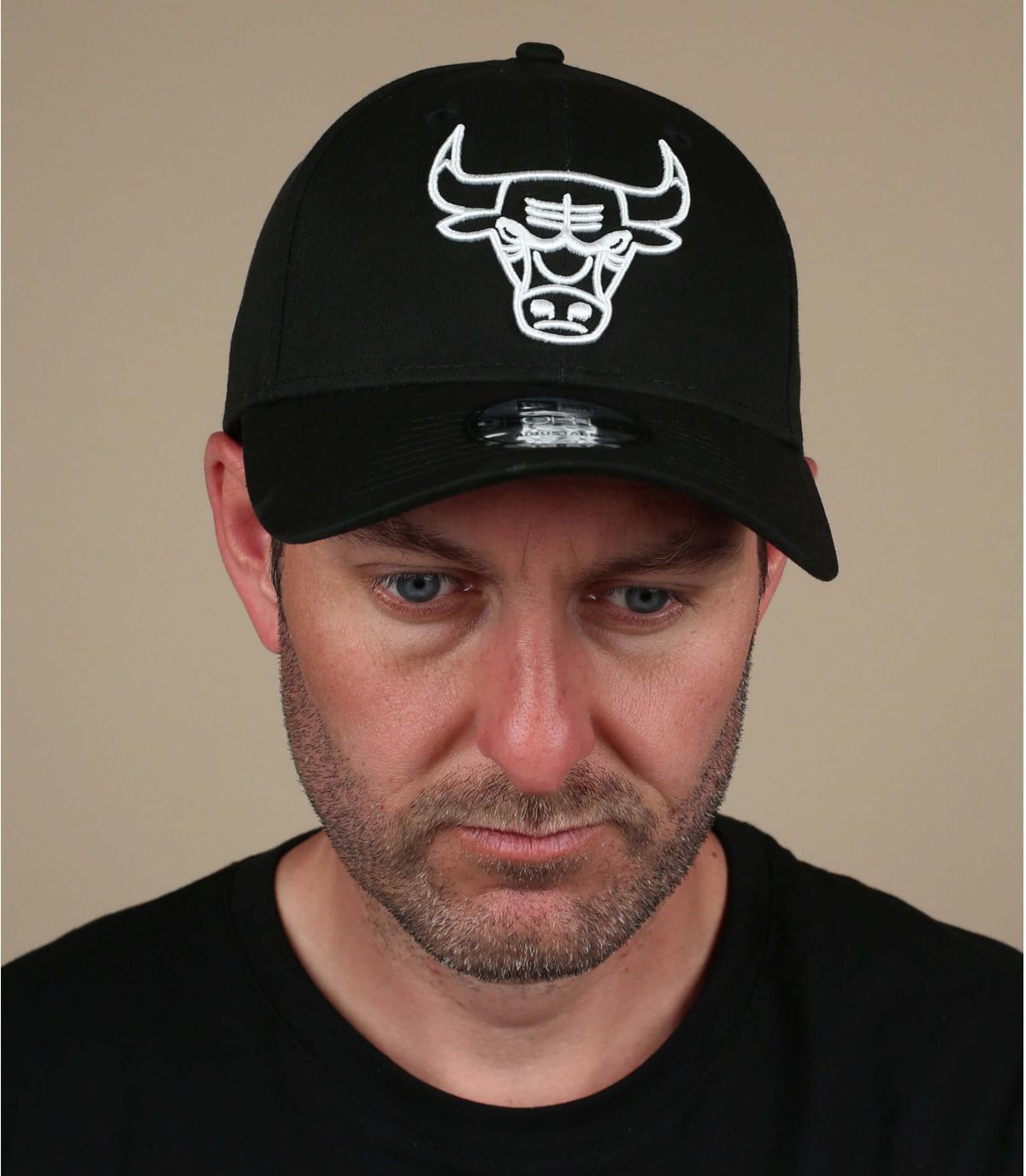 Black white Bulls cap