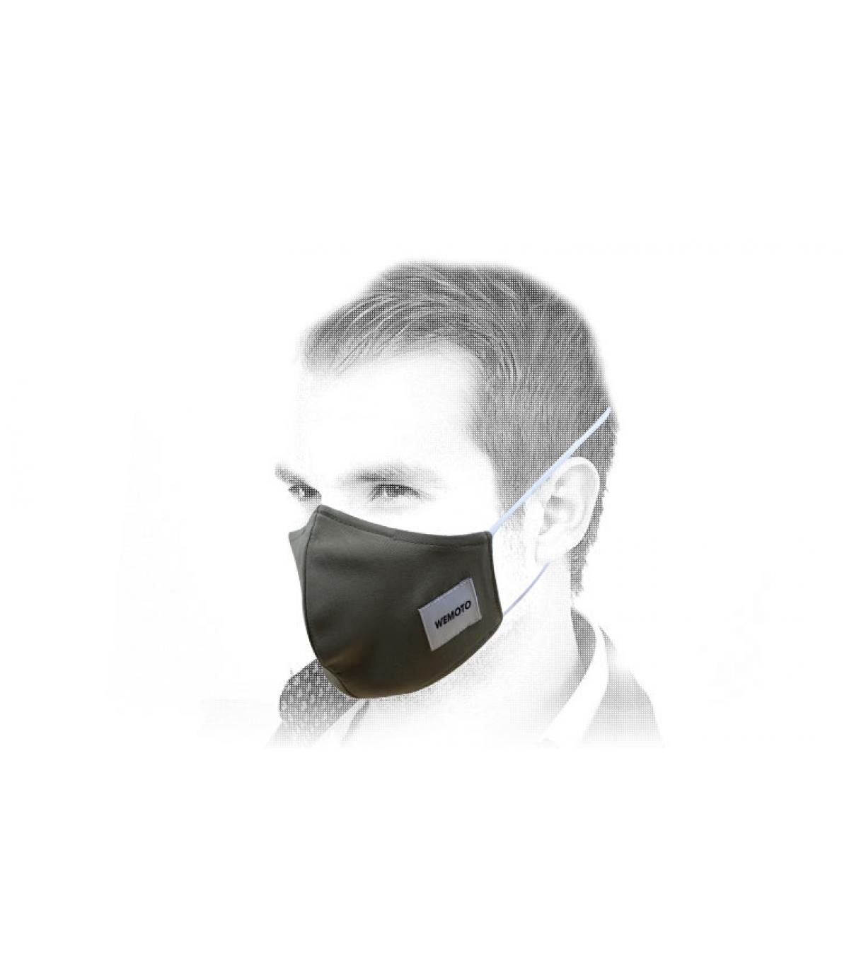 green Wemoto face mask
