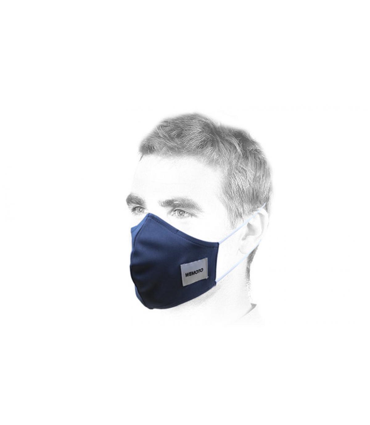 blue Wemoto face mask