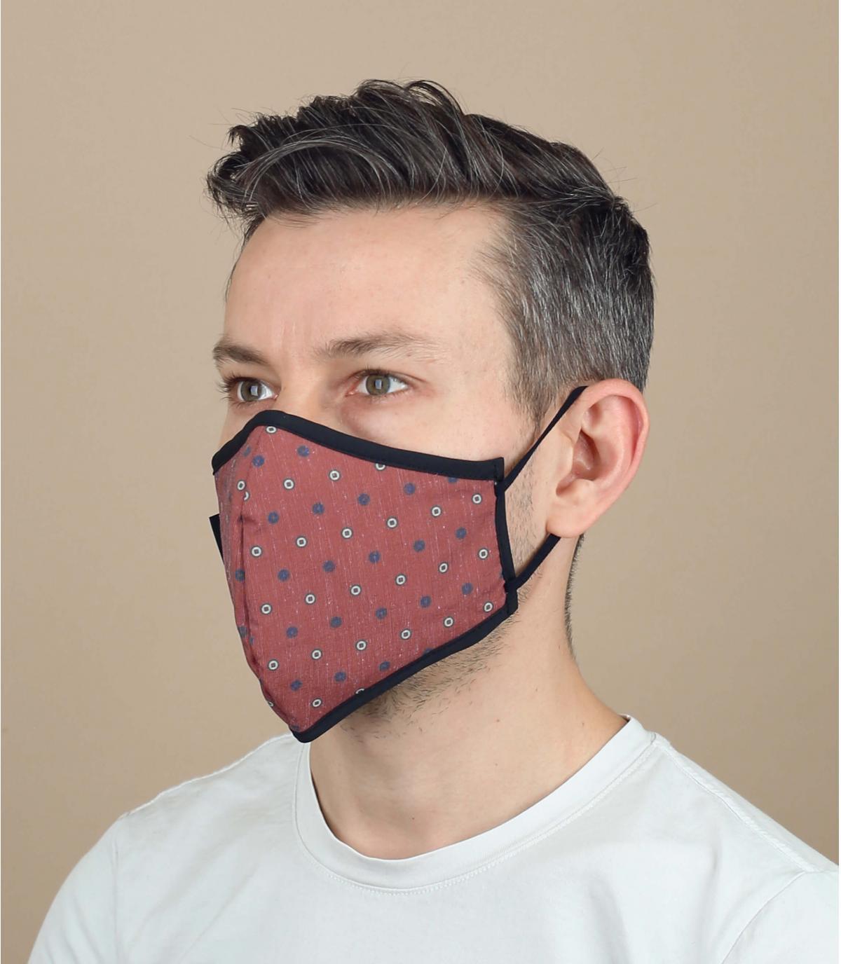Coronavirus mask polka dots