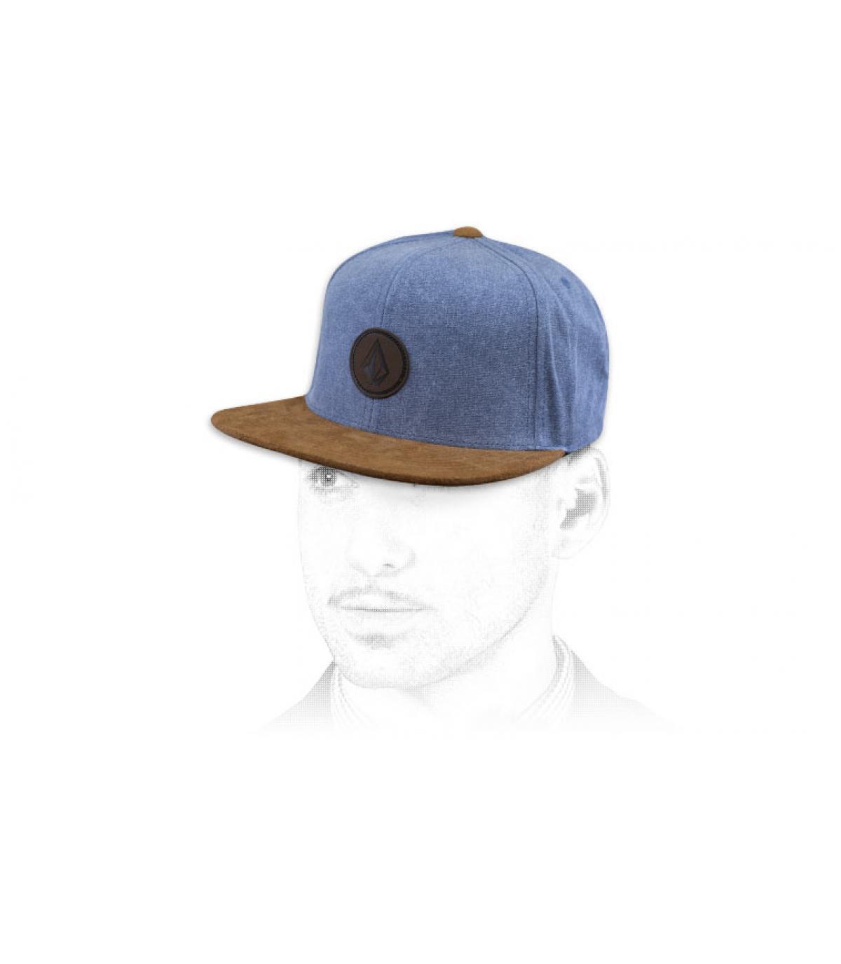 Volcom snapback blue suede