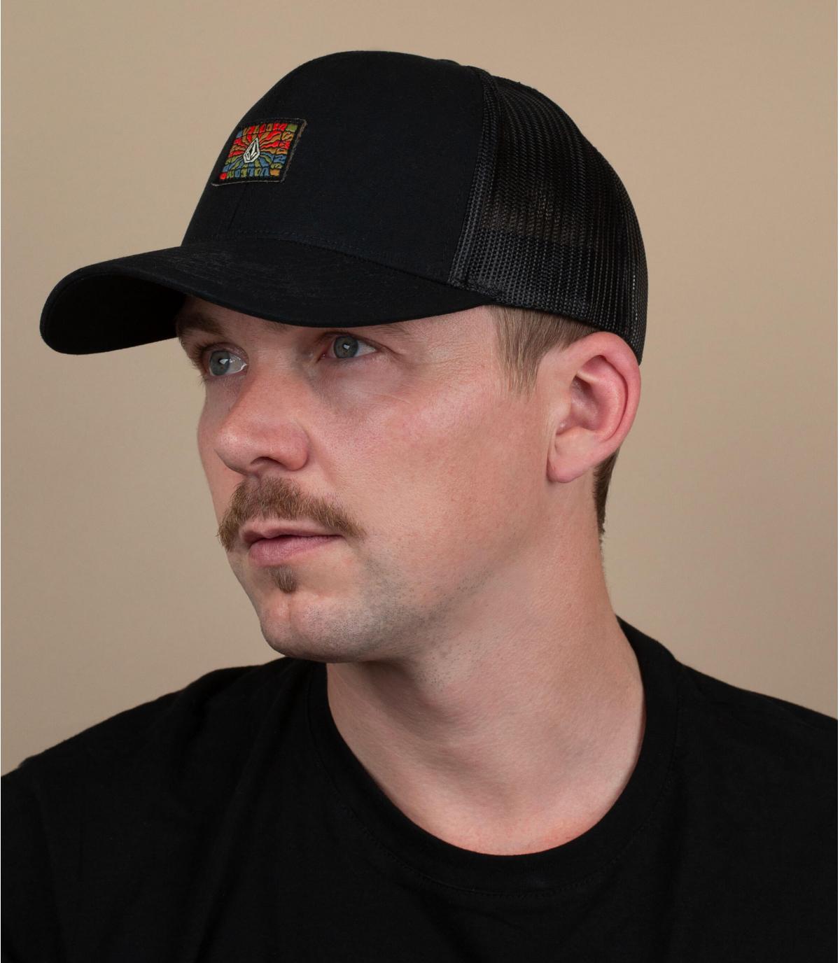 black Volcom trucker patch