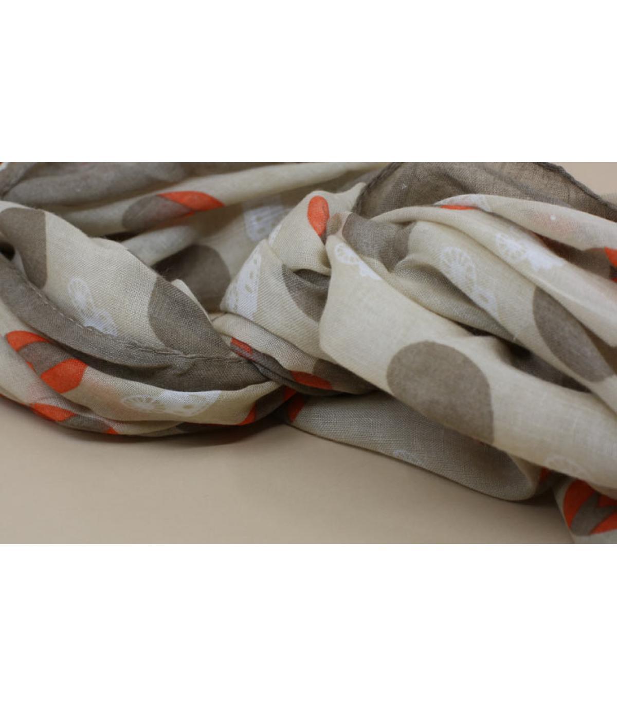 Beige dots scarf