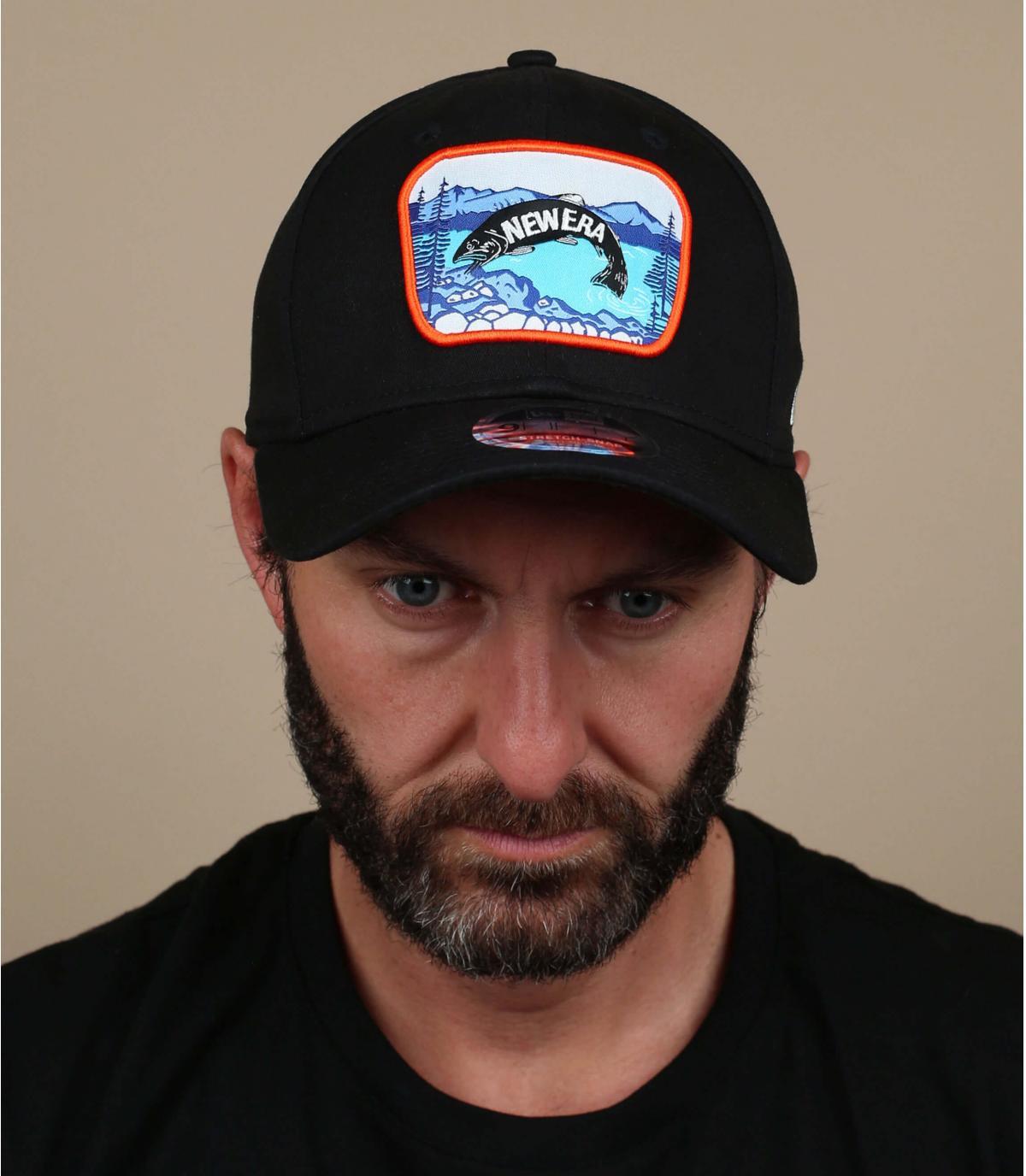 Black cap fish patch