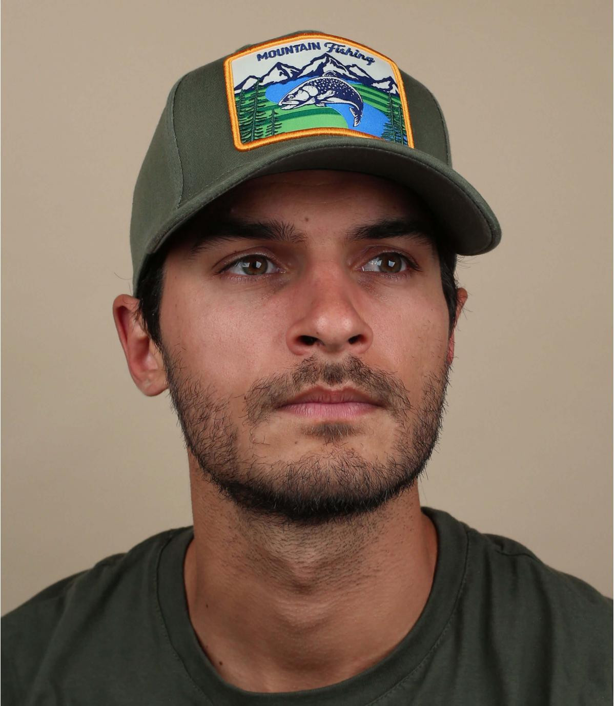 olive-green outdoors cap