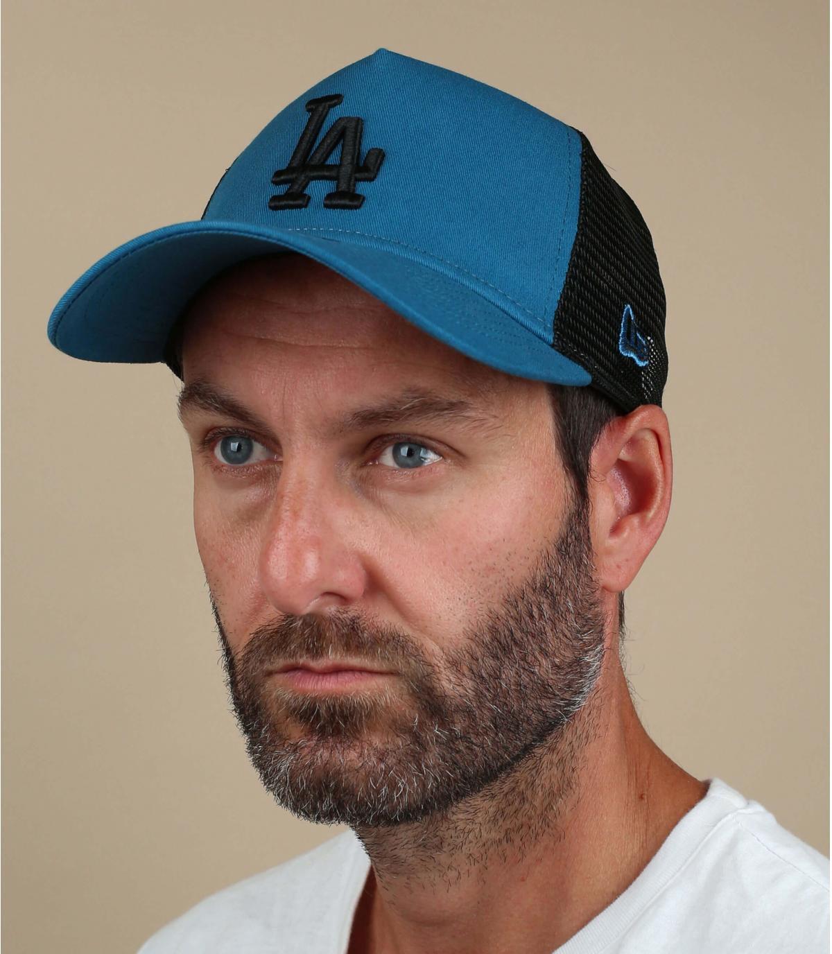 blue LA trucker