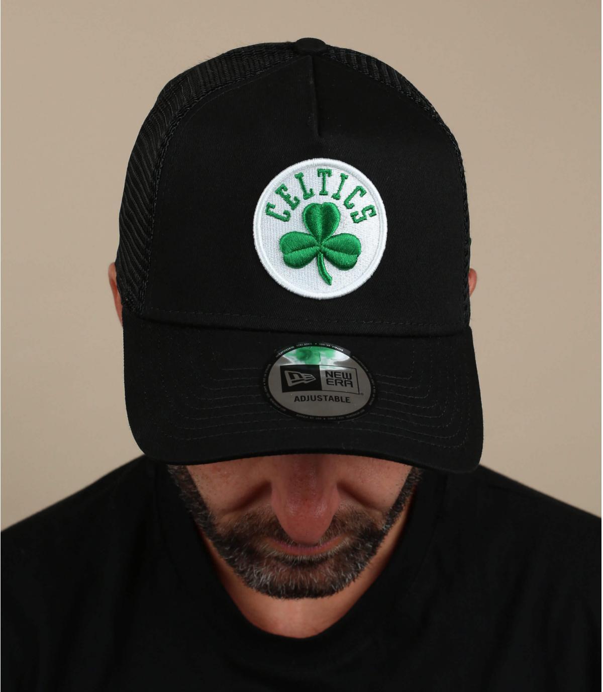 black Celtics trucker