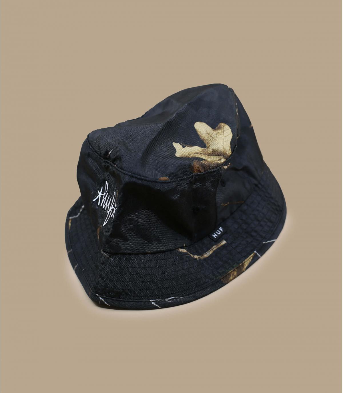 Black Realtree Huf bucket hat