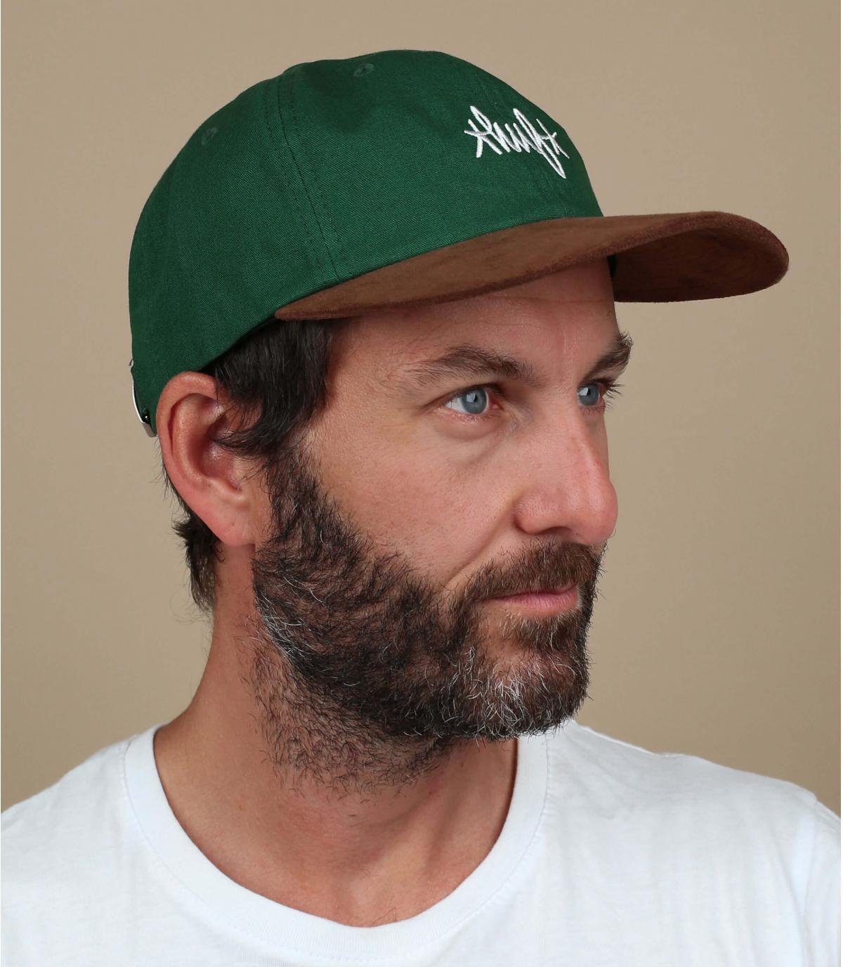 Huf cap green suede