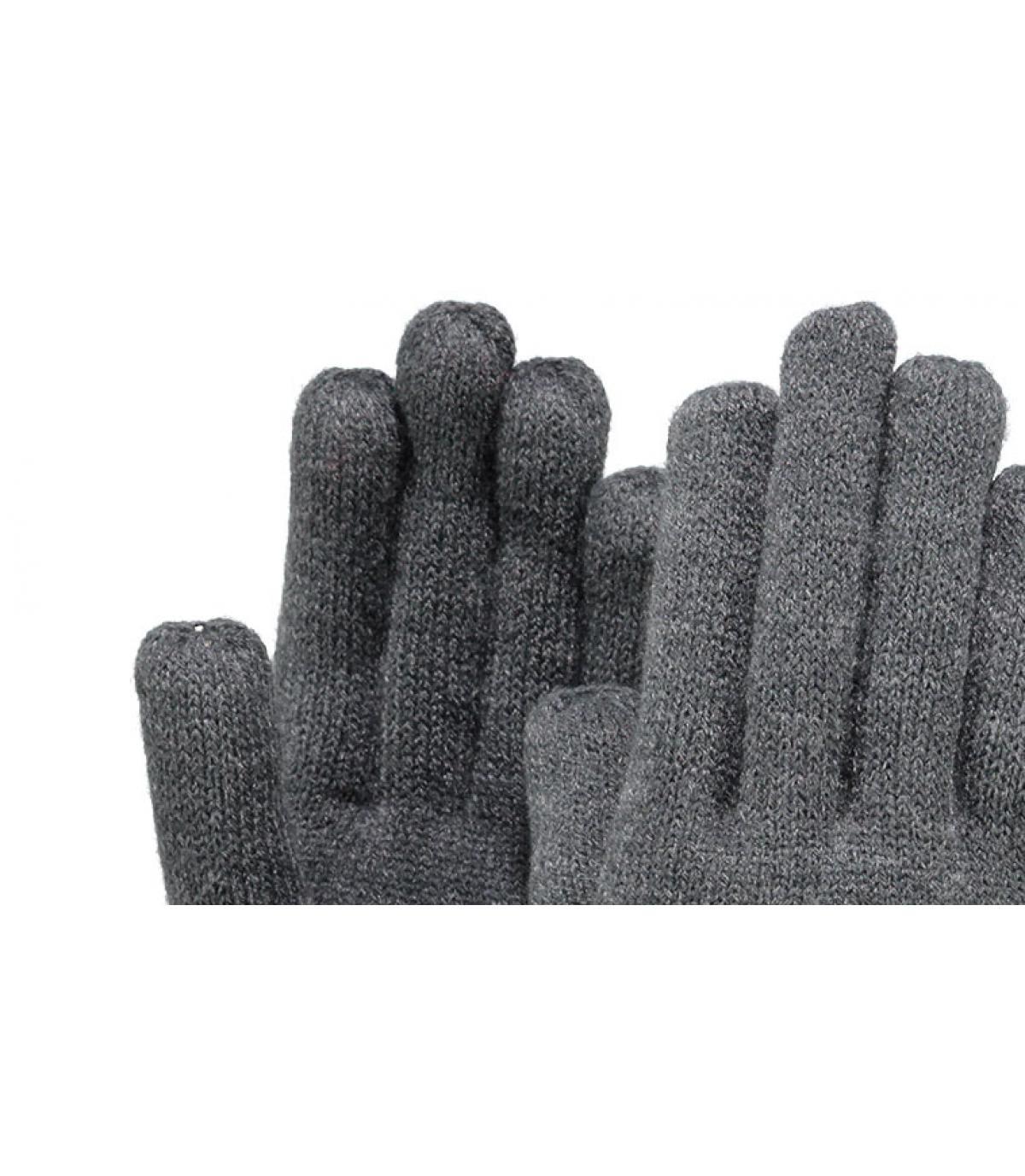 Détails Fine knitted gloves dark heather - image 2