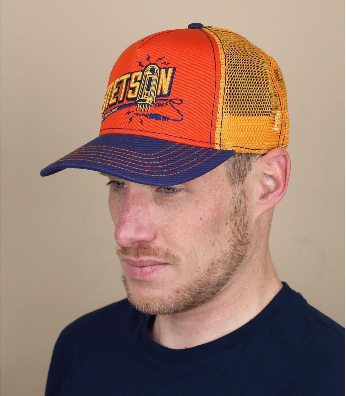 Stetson orange trucker cap