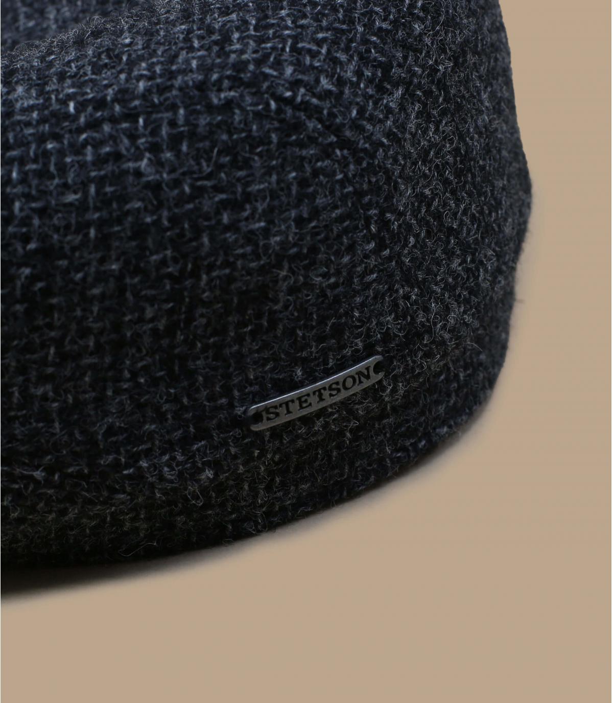 Grey Shetland wool flat cap