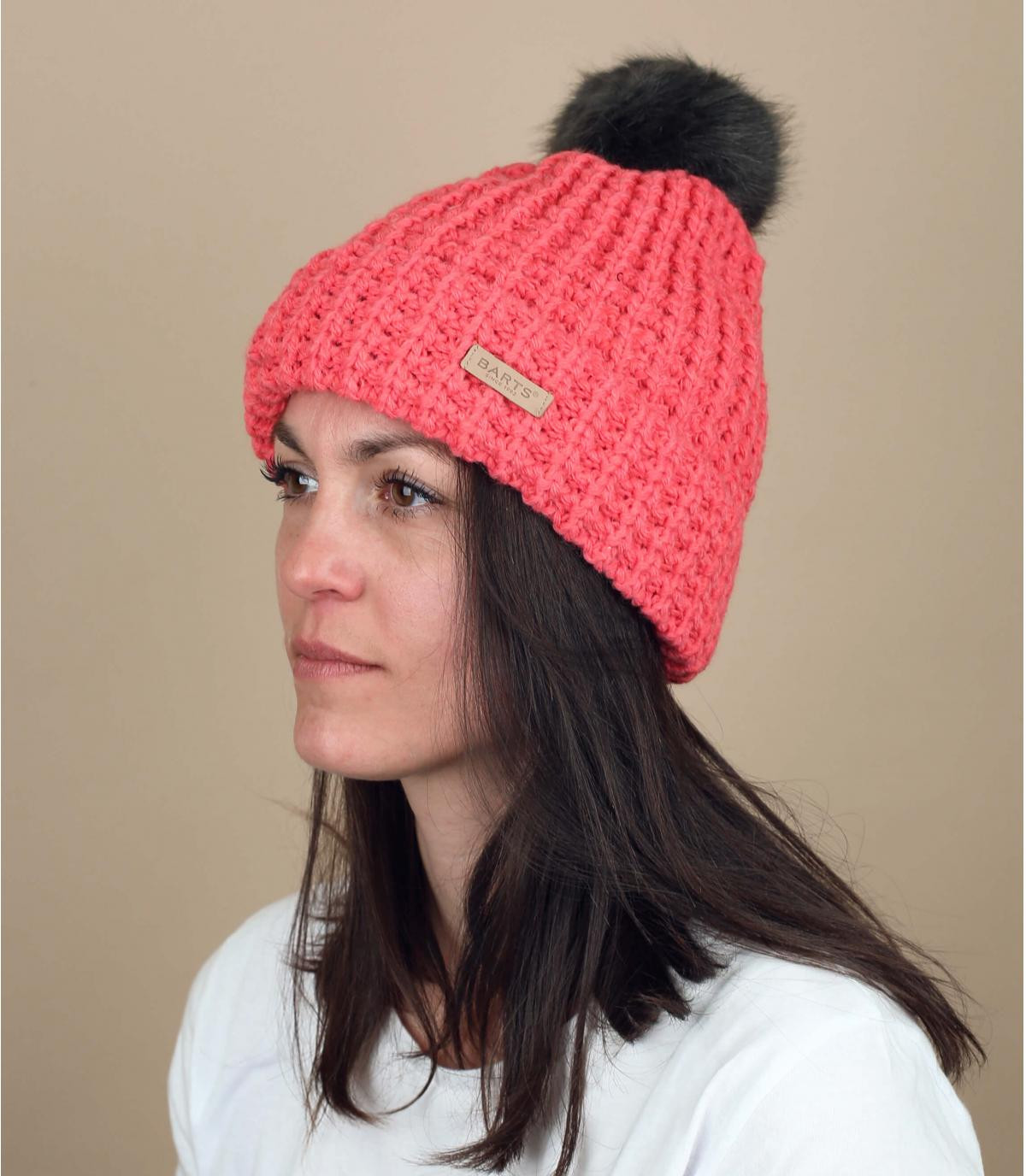 Pink beanie for women