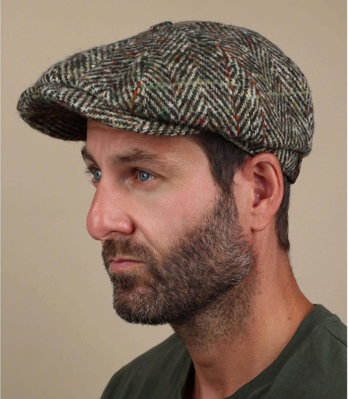 beige newsboy cap wool