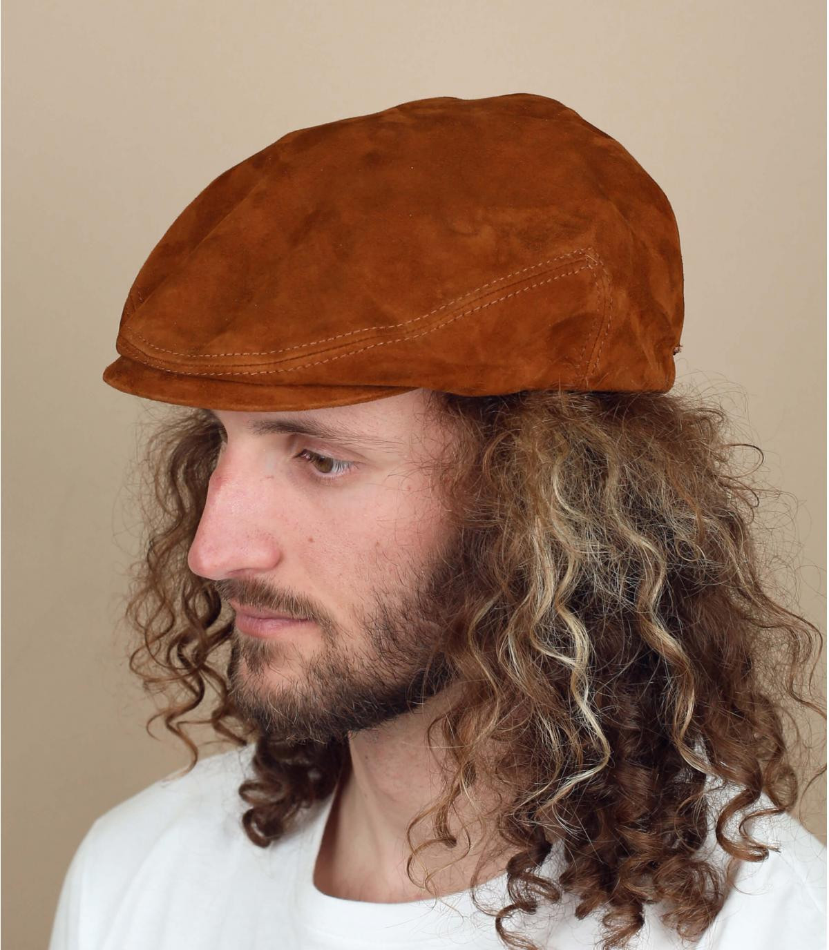 suede leather cap