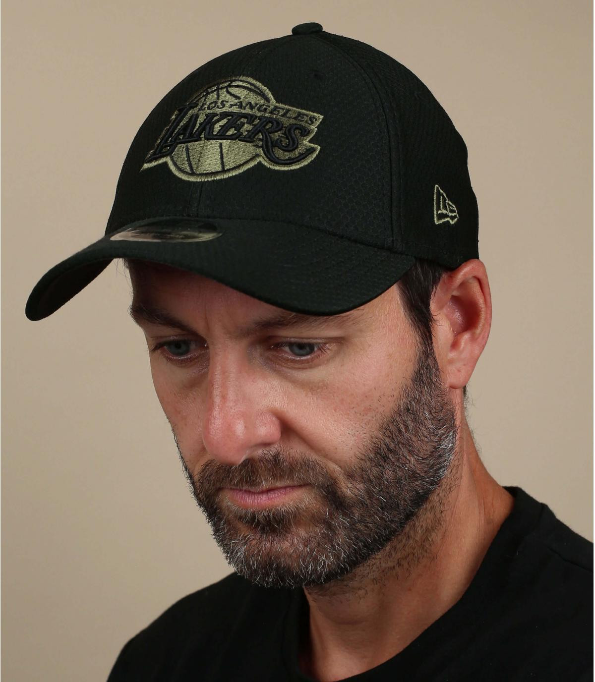 black Lakers cap