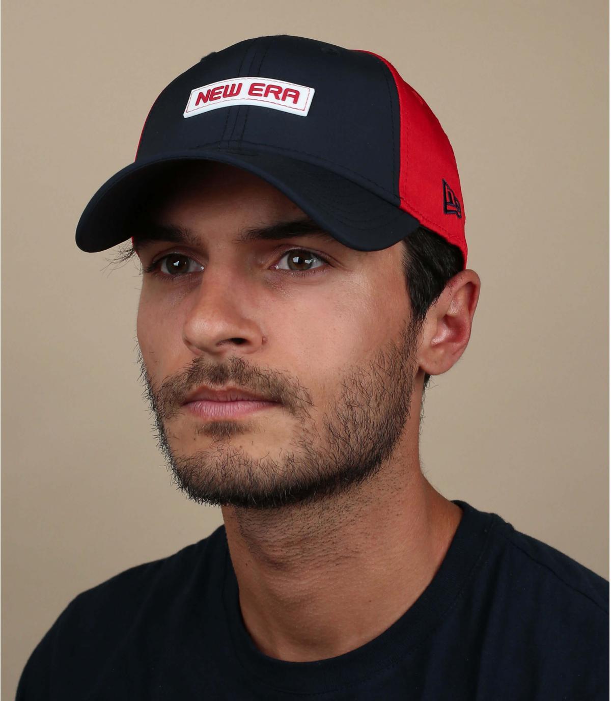 blue red New Era cap