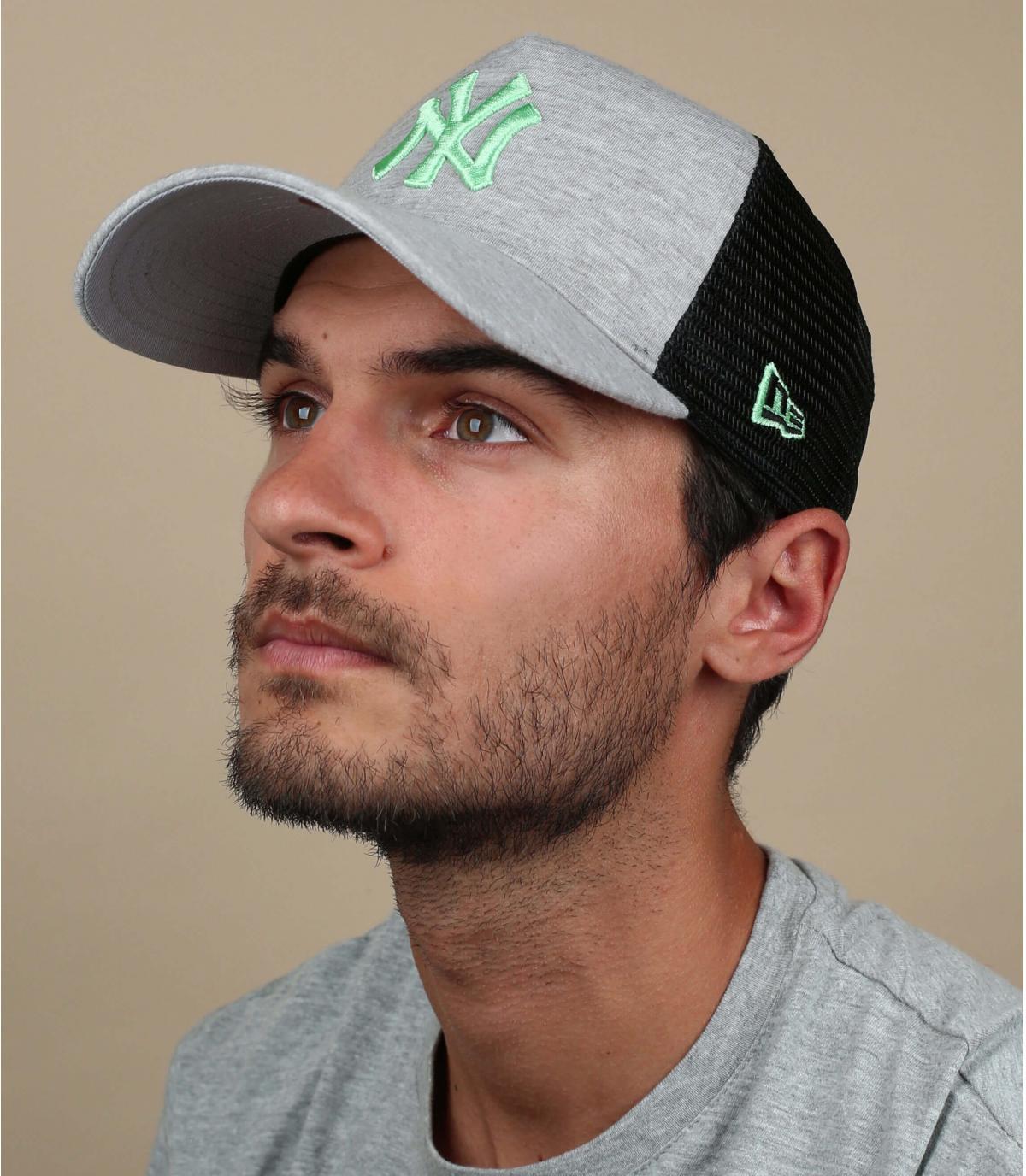 grey green NY trucker