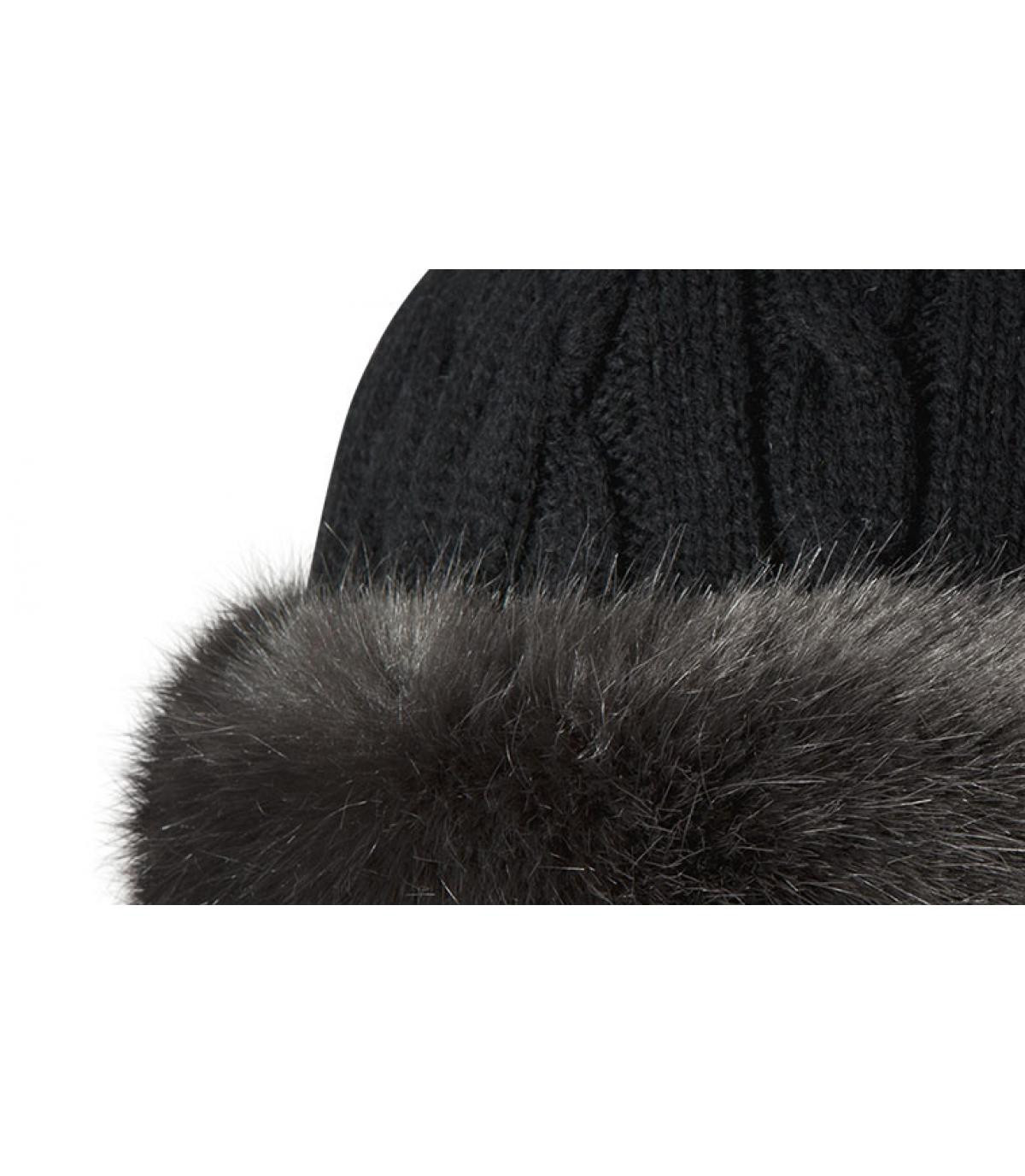 b1902722 Grey bandhat Barts - Fur cable bandhat grey by Barts.