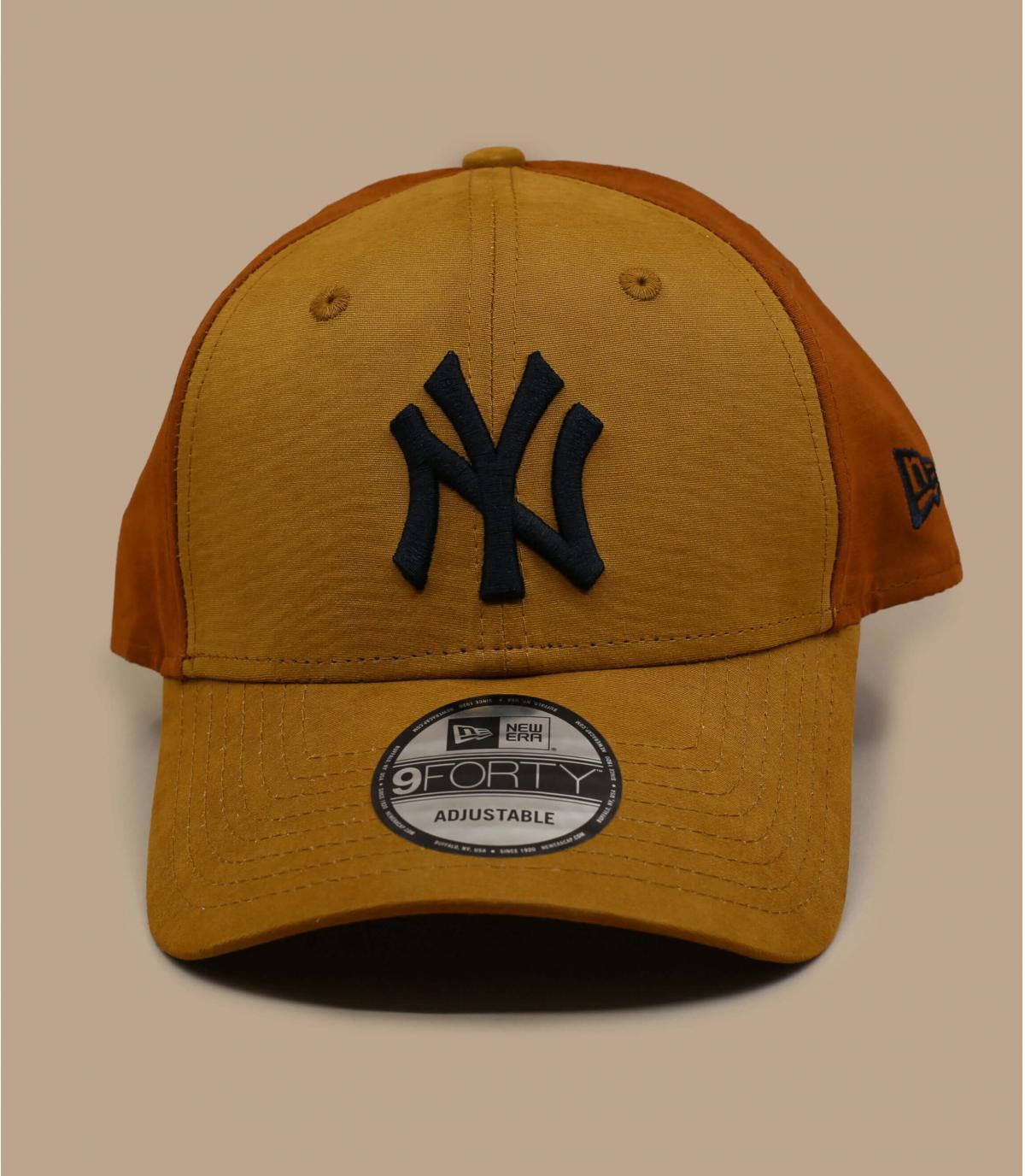 beige brown NY cap