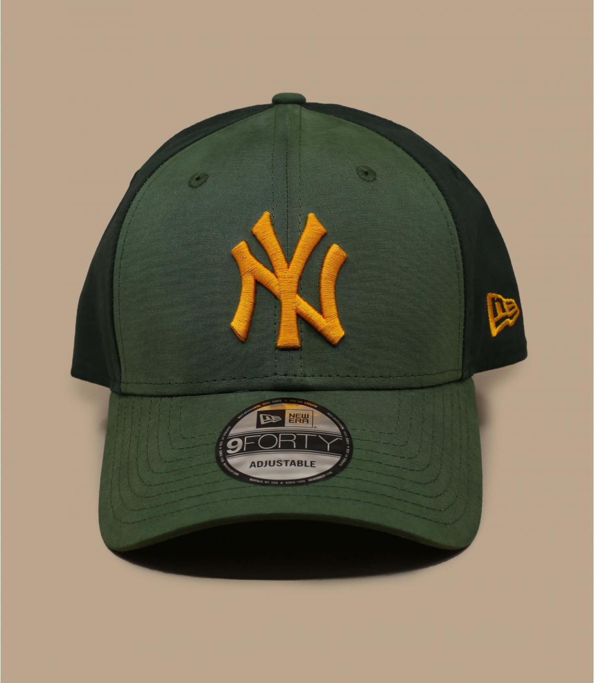 green yellow NY cap