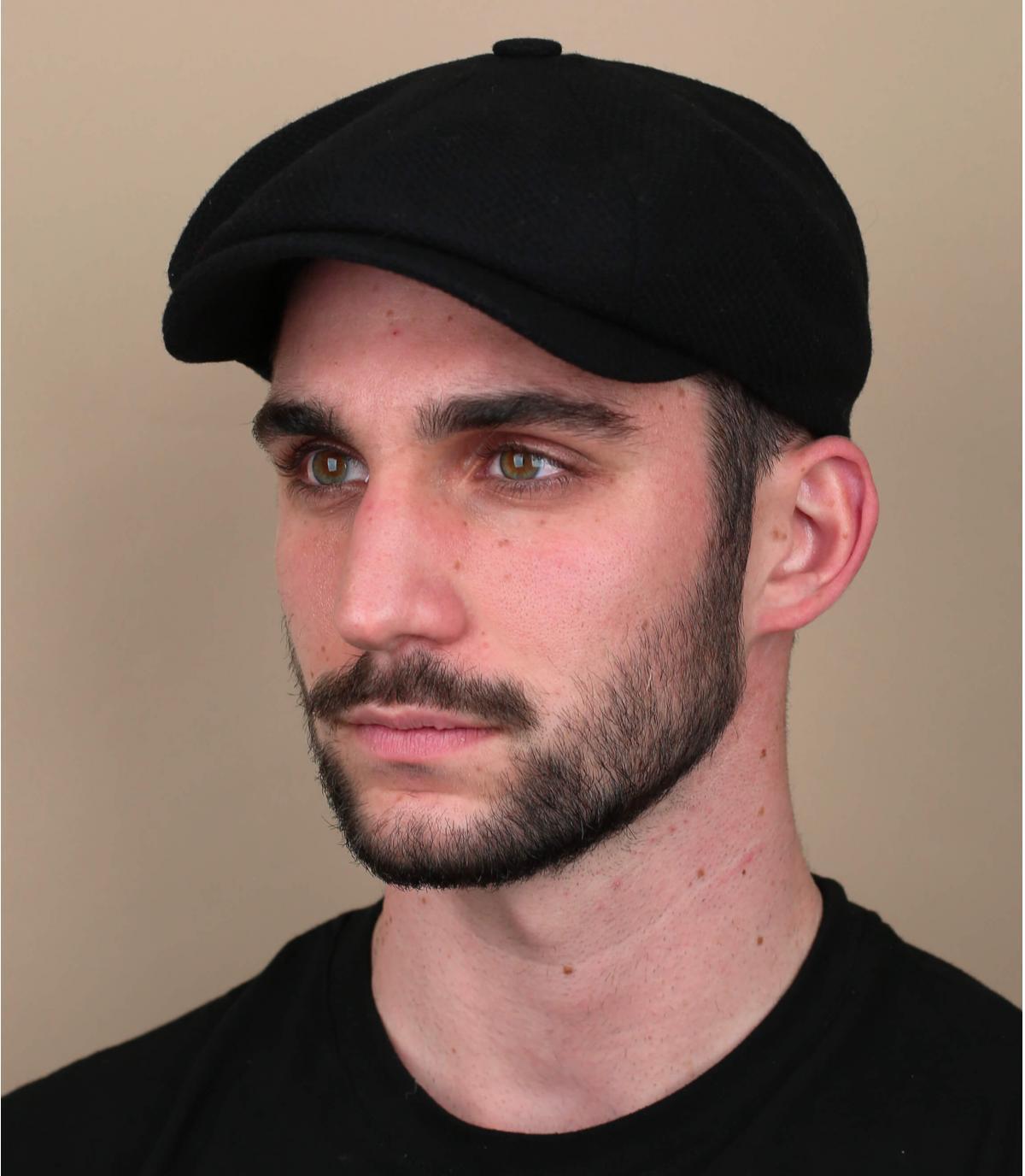 newsboy cap black wool