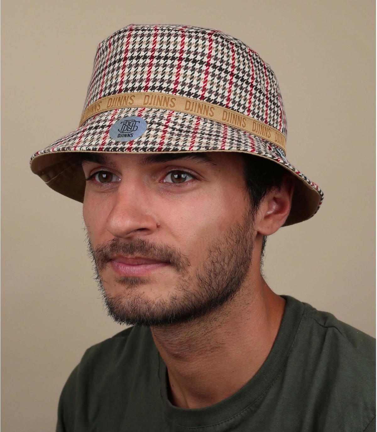 Houndstooth bucket hat Djinns