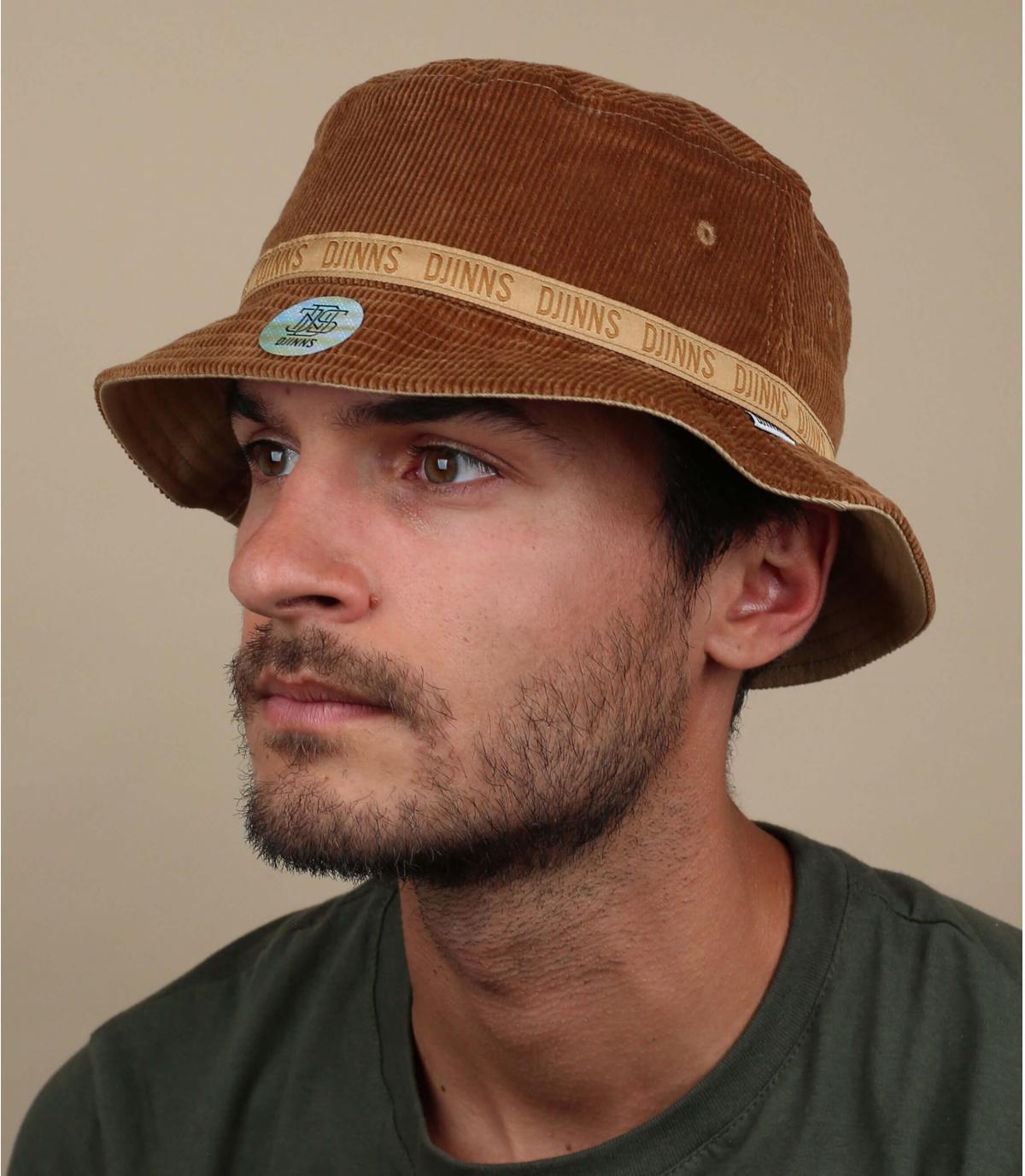 Djinns brown corduroy bucket hat