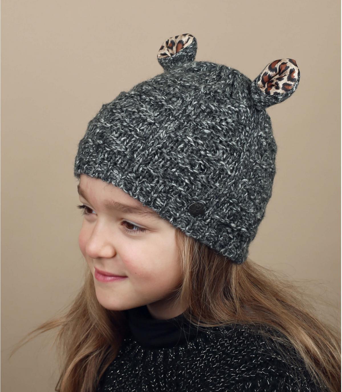 Grey kids beanie