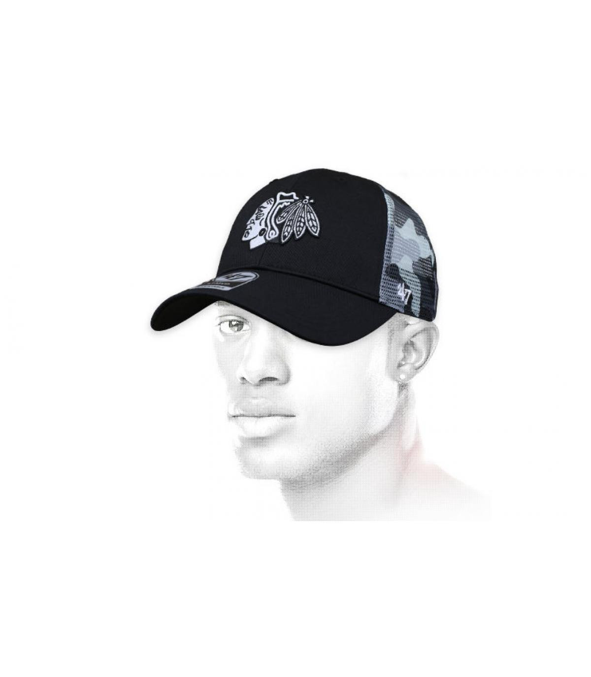 black camo Blackhawks cap