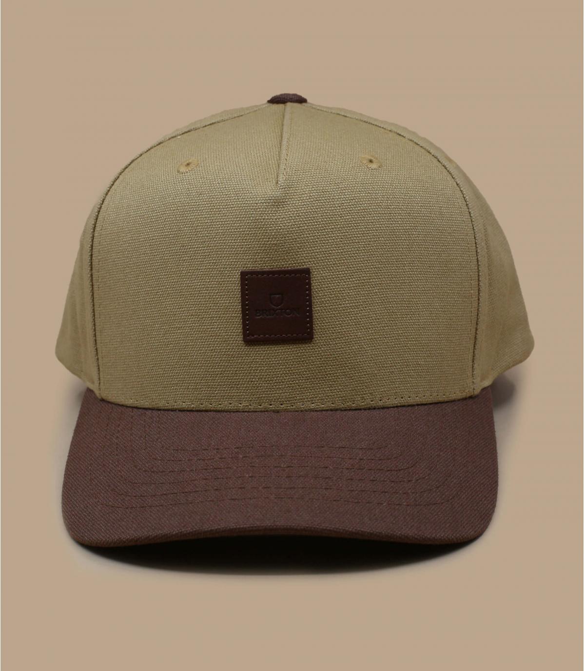 Brixton beige snapback cap