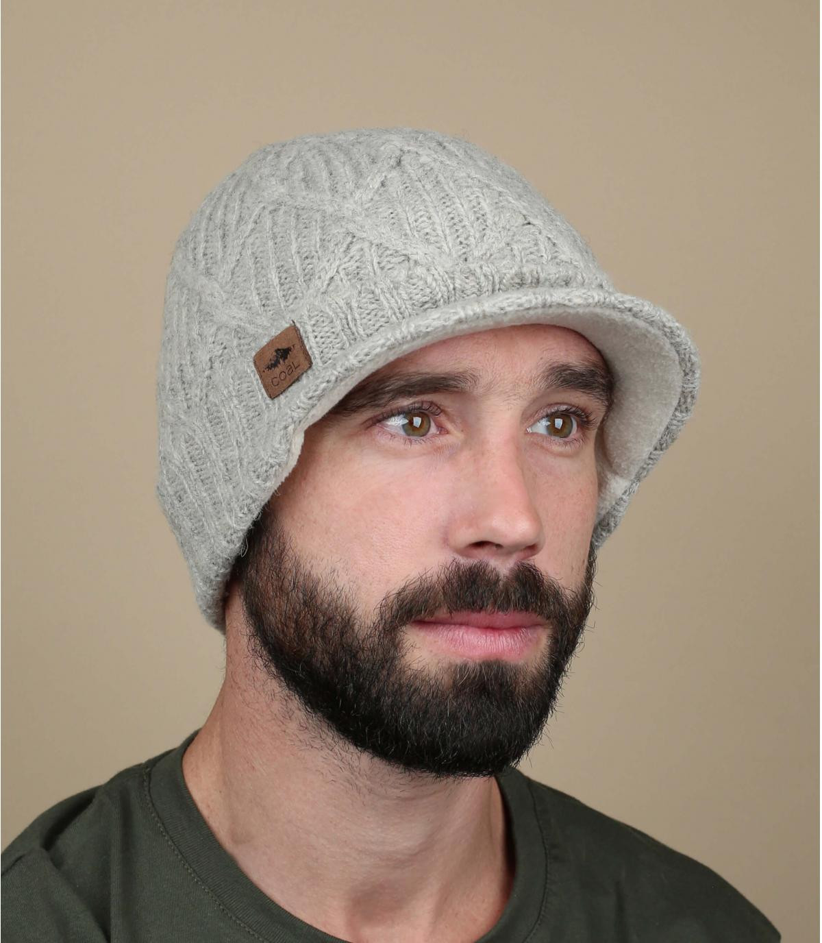 knit visor beanie