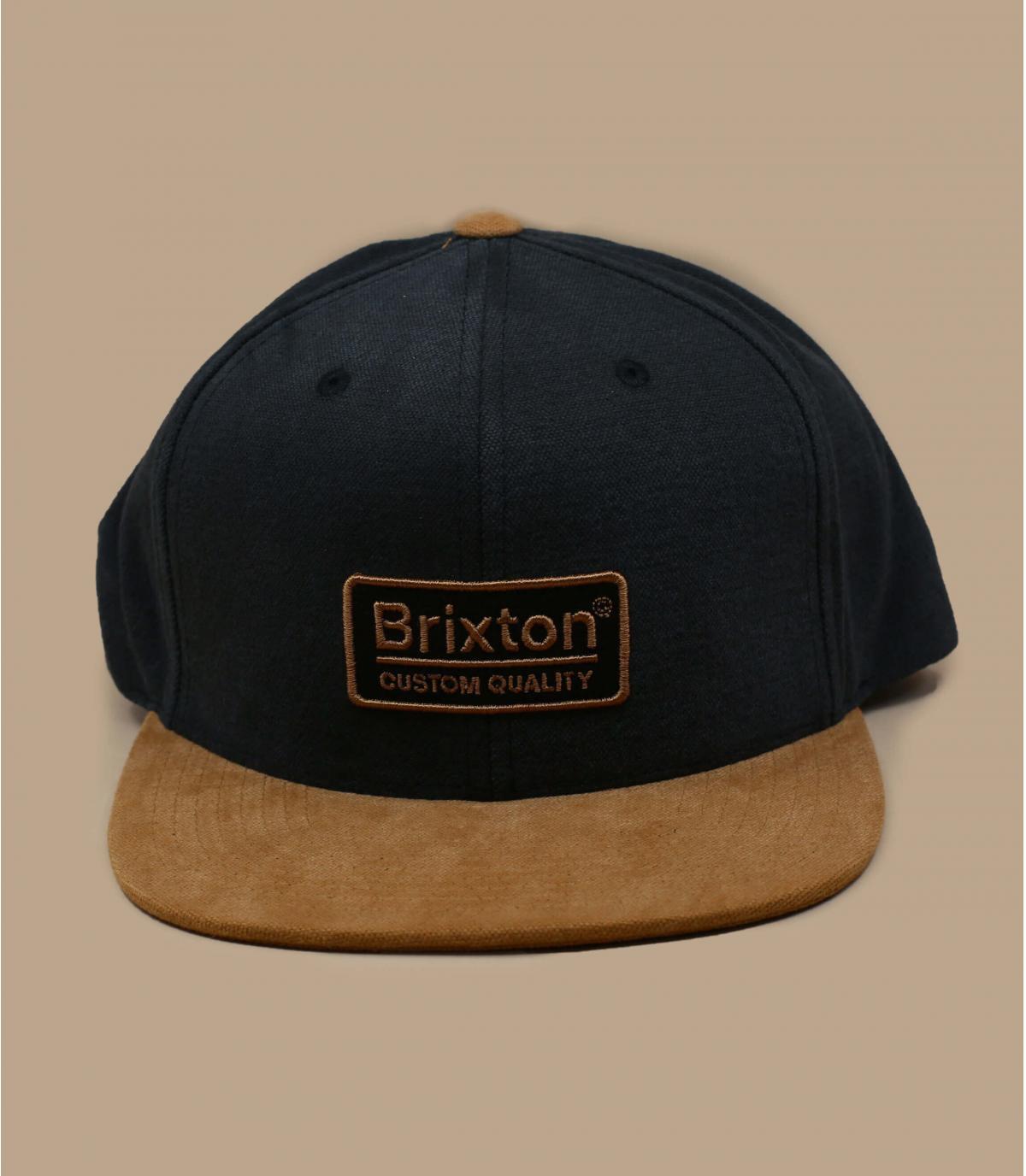 black suede Brixton snapback