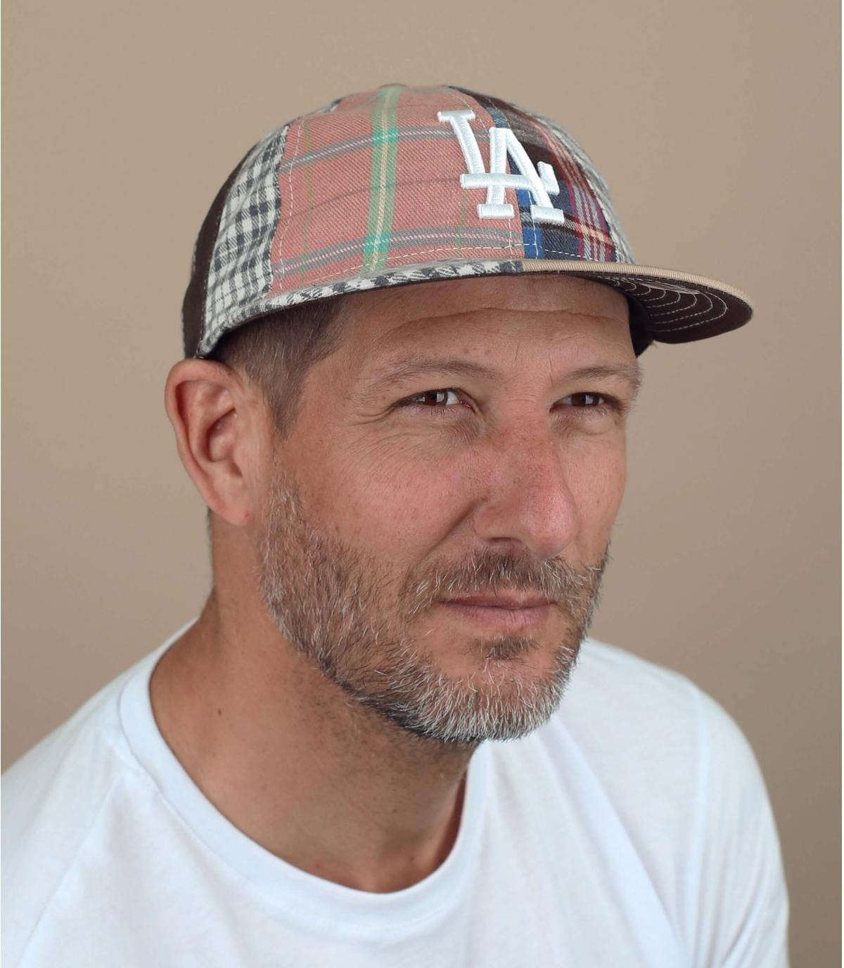 Beige LA patchwork cap
