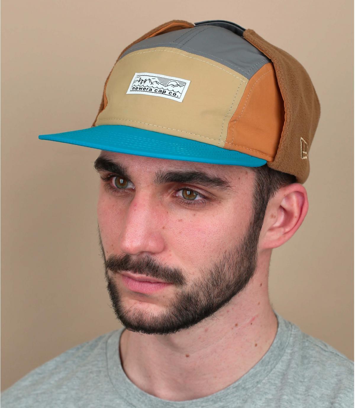 5 panel cap earflaps New Era