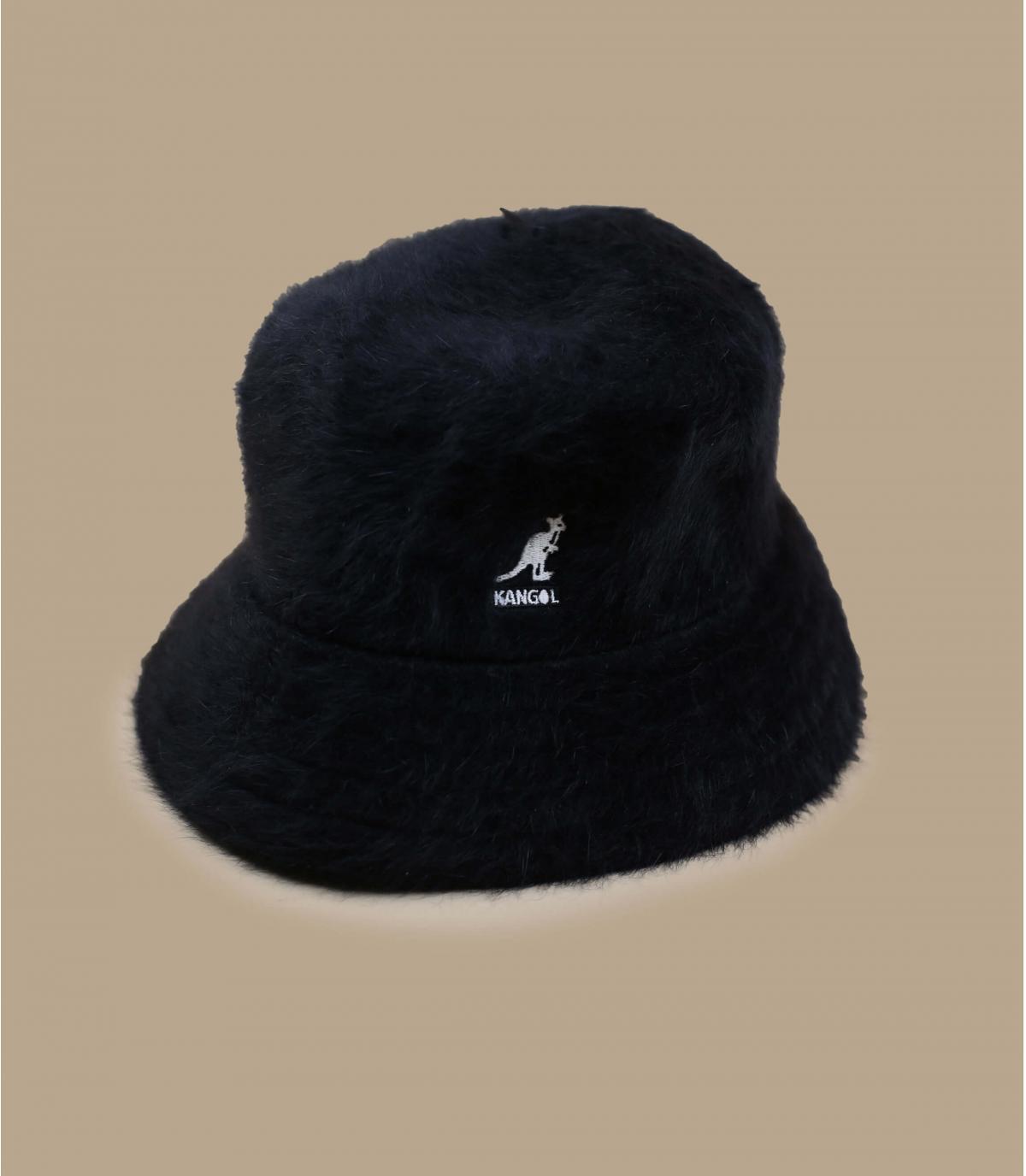 Black fur bucket hat Kangol.