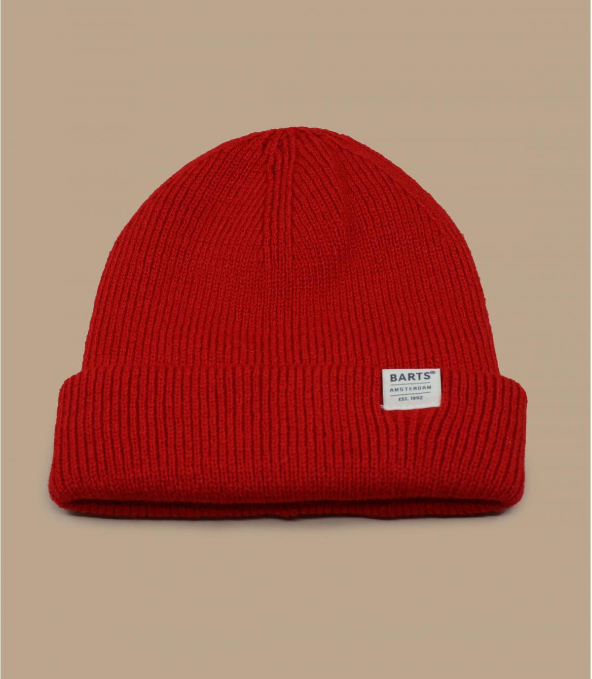 red docker beanie Barts