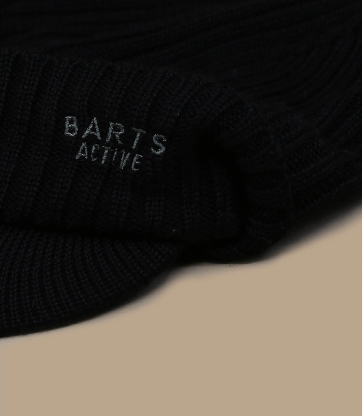black beanie peak Barts