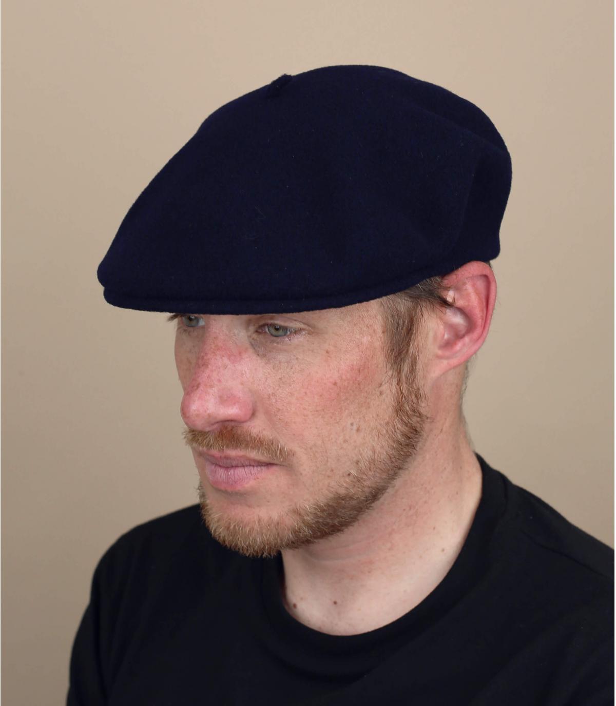grey merino flat cap