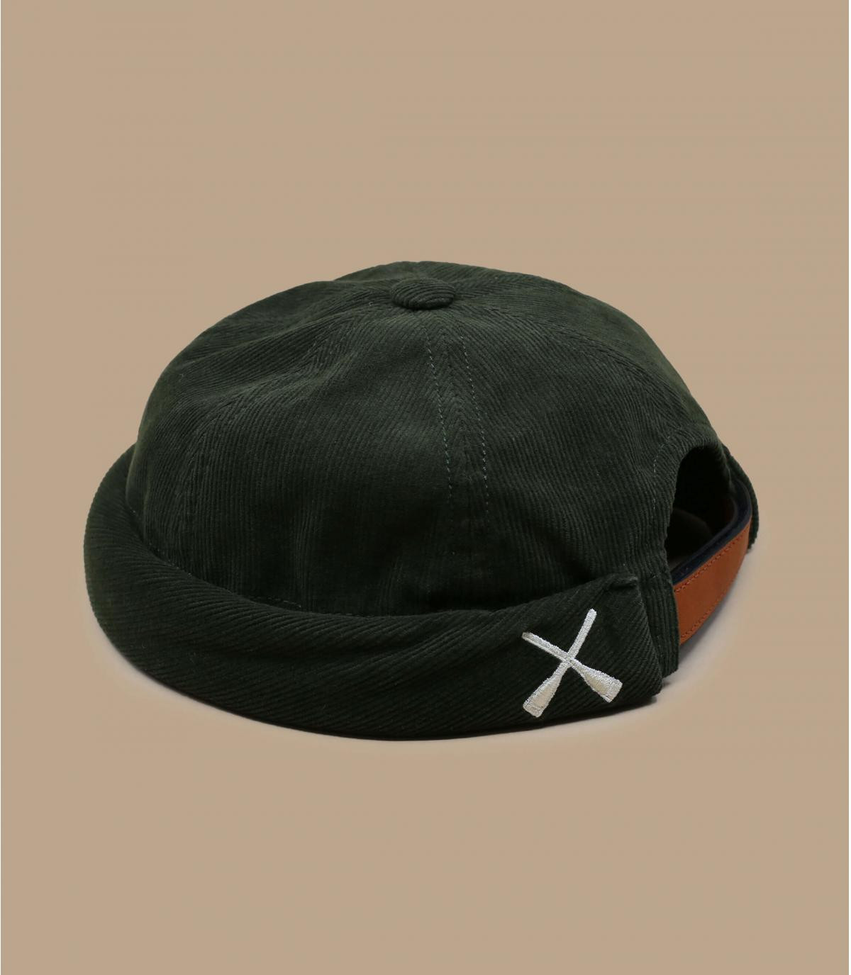 green corduroy beret