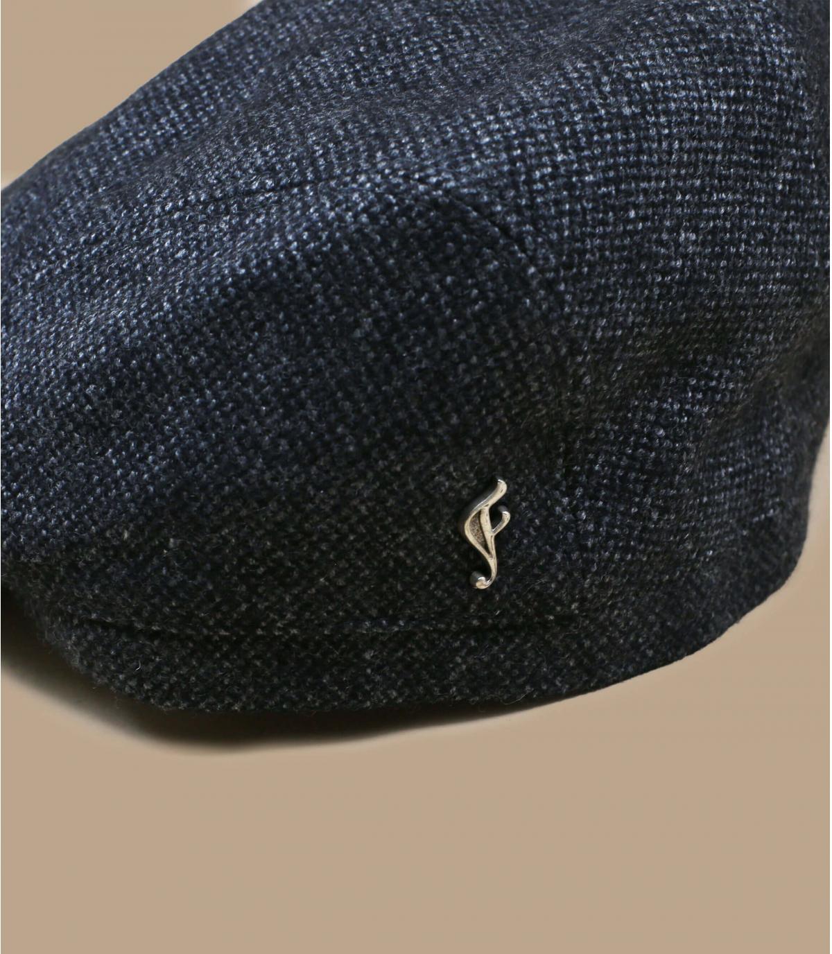 grey flat cap organic wool