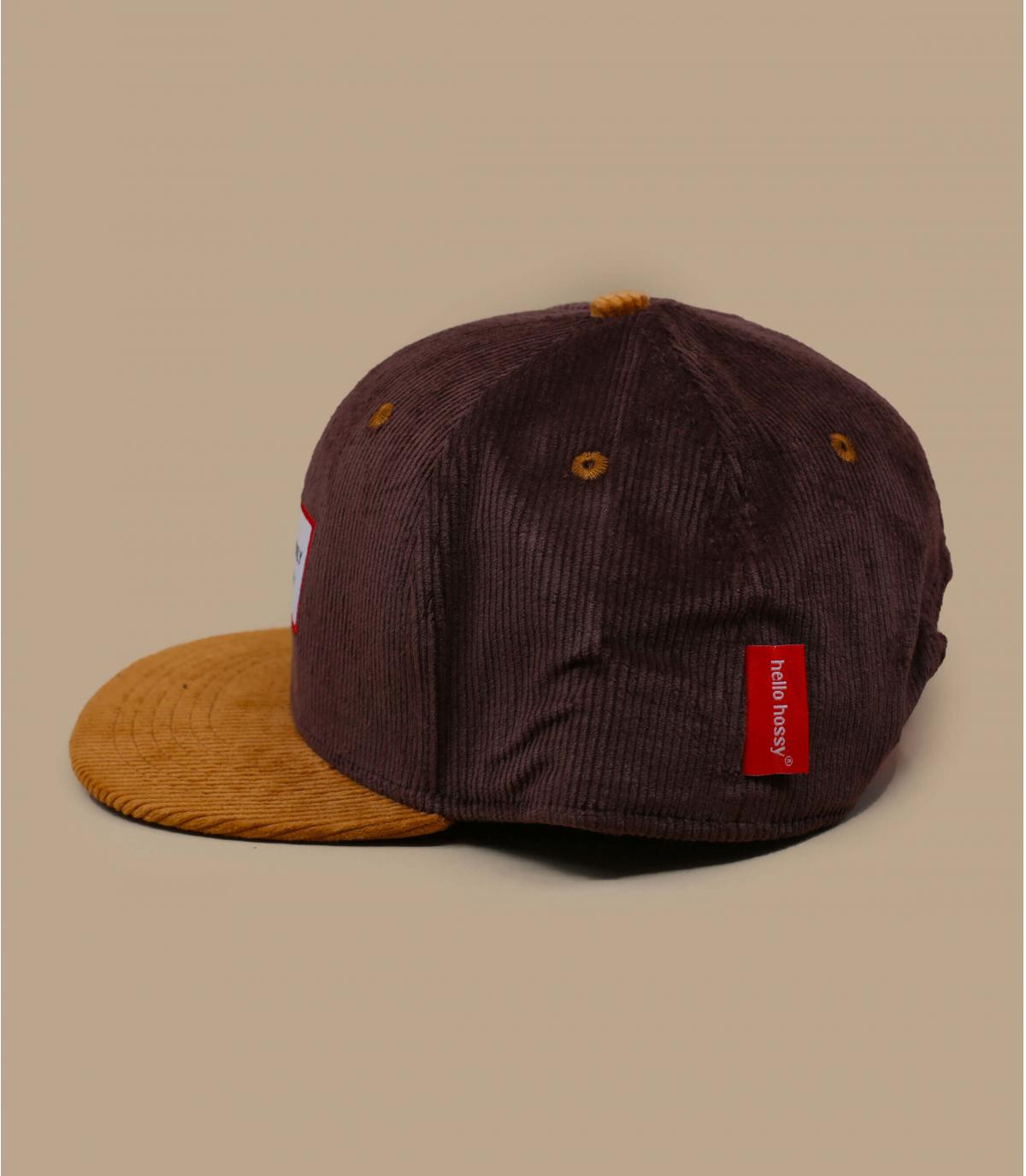 Brown corduroy child cap