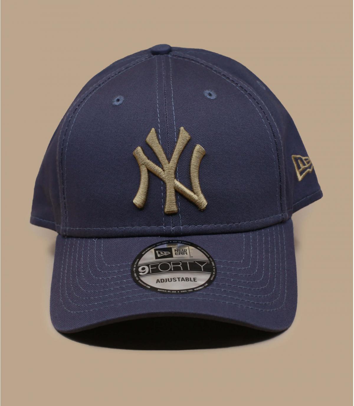 grey beige NY cap